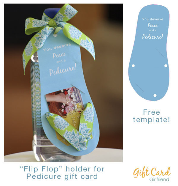 Easy homemade gifts for mom gift card girlfriend for Free pedicure gift certificate template