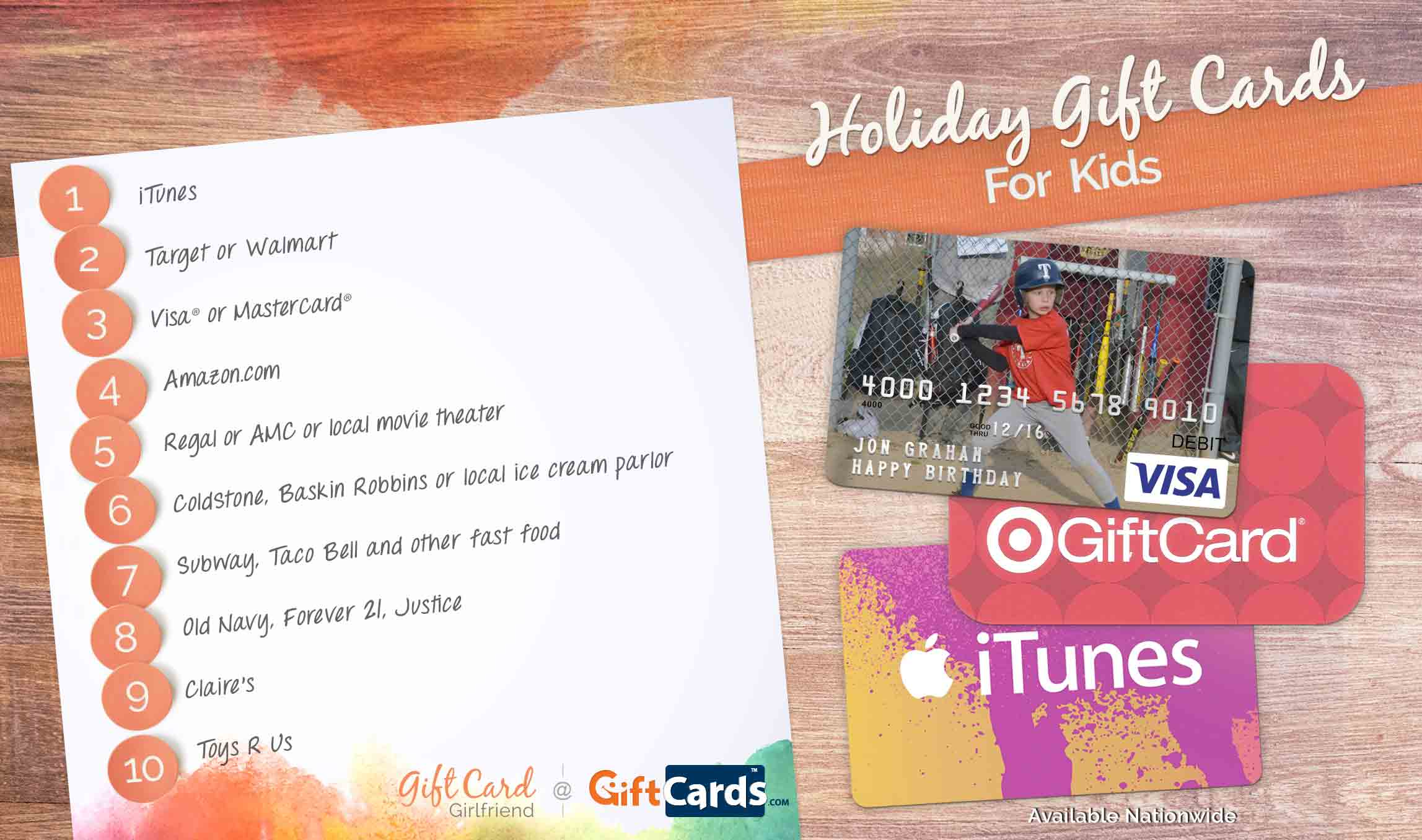 The Best Gift Cards For Kids Gift Card Girlfriend