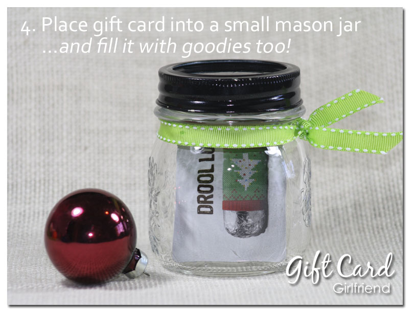 gift card wrapping ideas with mason jar