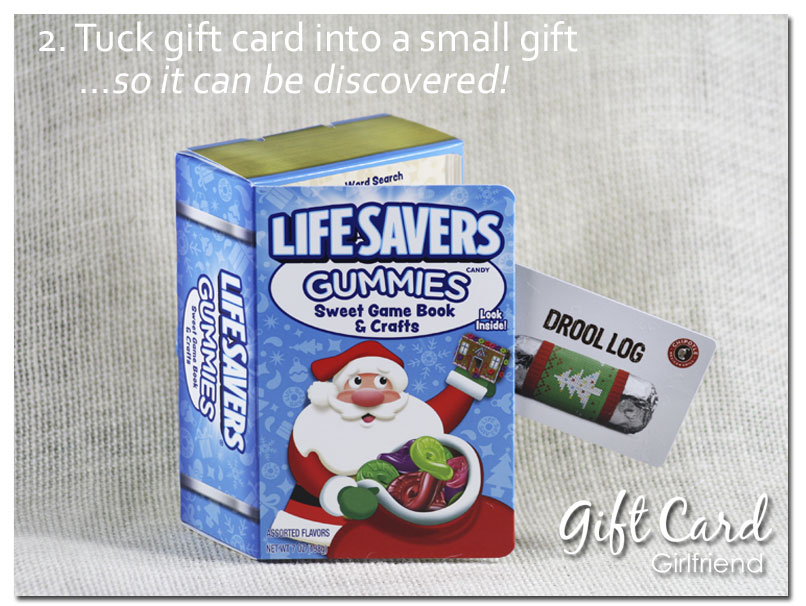 gift card wrapping ideas hideaway