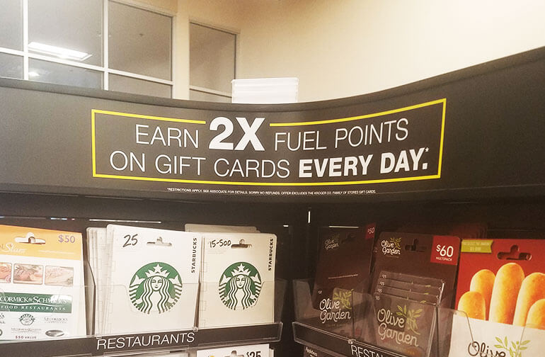 Fuel perks gift card offer