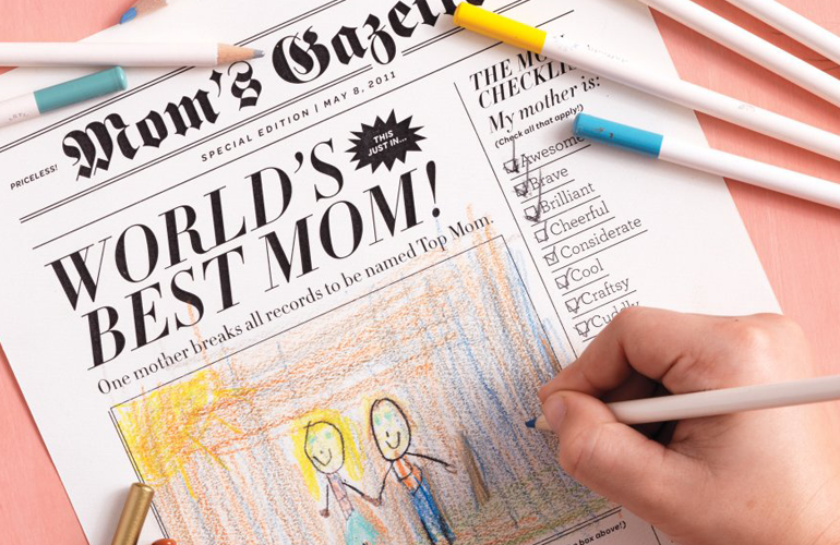 newspaper gift for mom