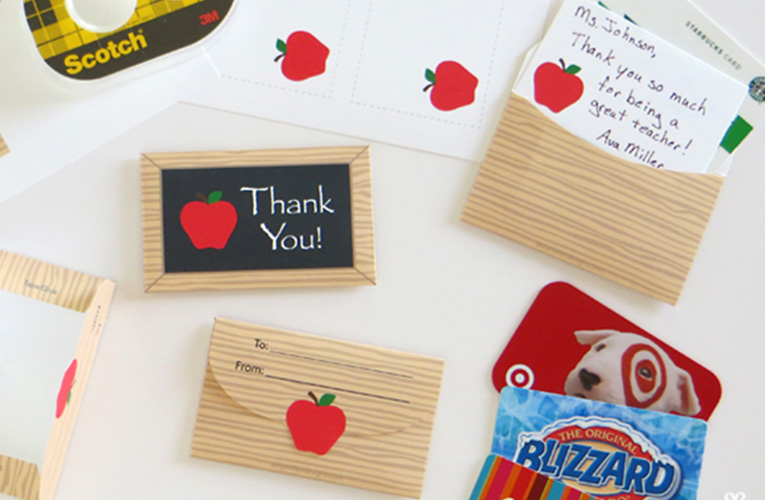 teacher gift card holder