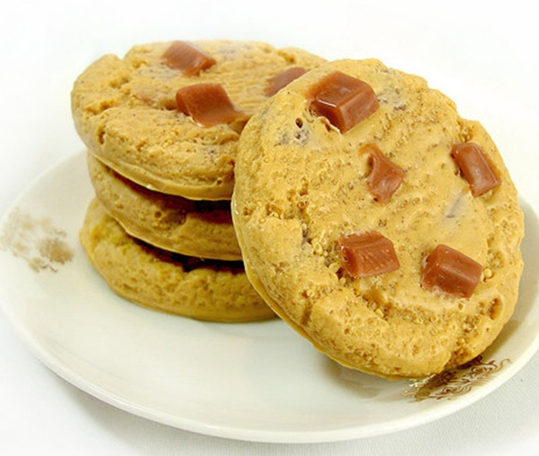 Cookie soap with spa gift card is a sweet treat.