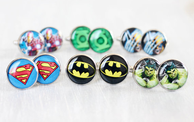 superhero-cuff-links
