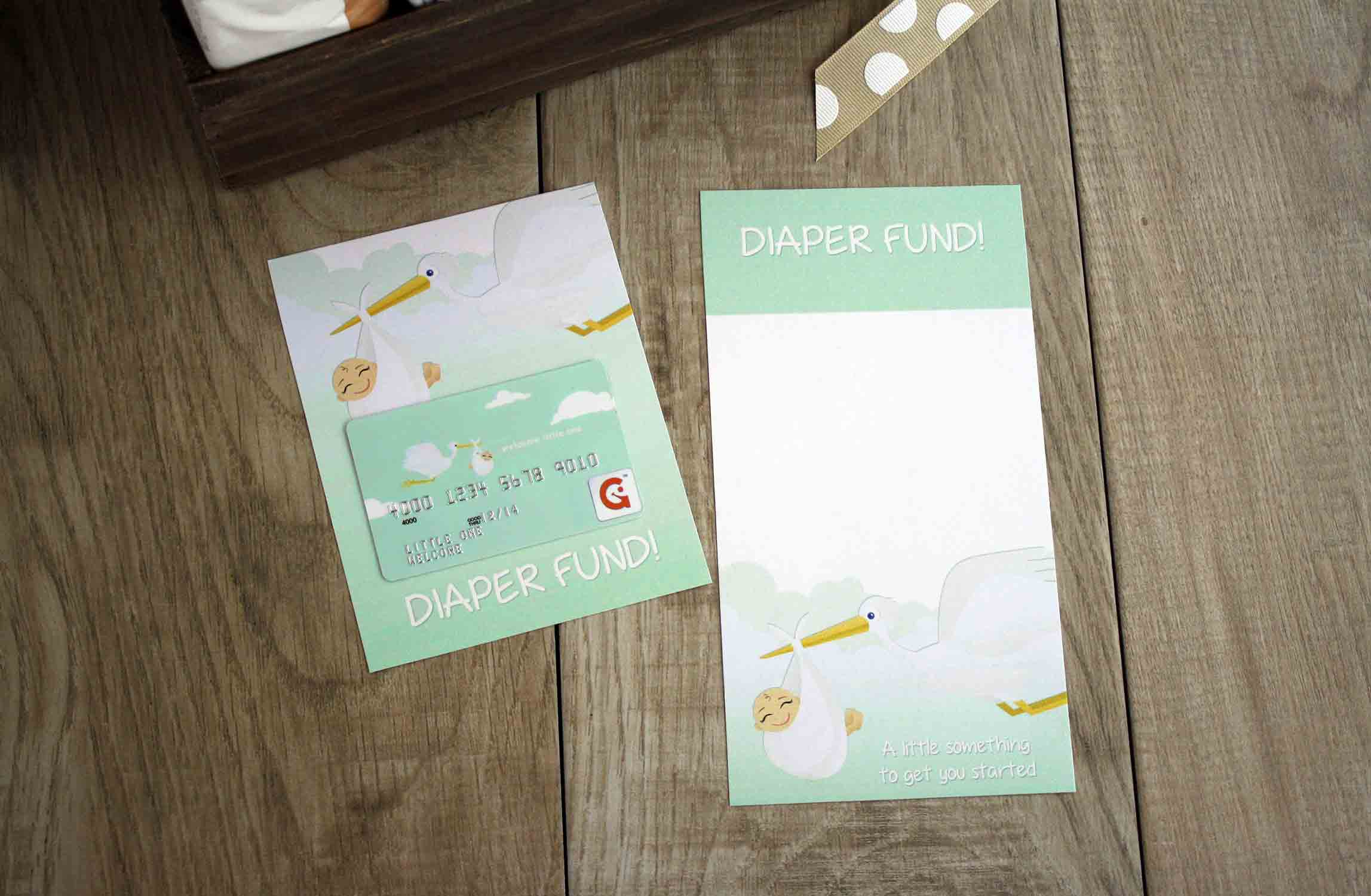 Diaper fund printable for new baby