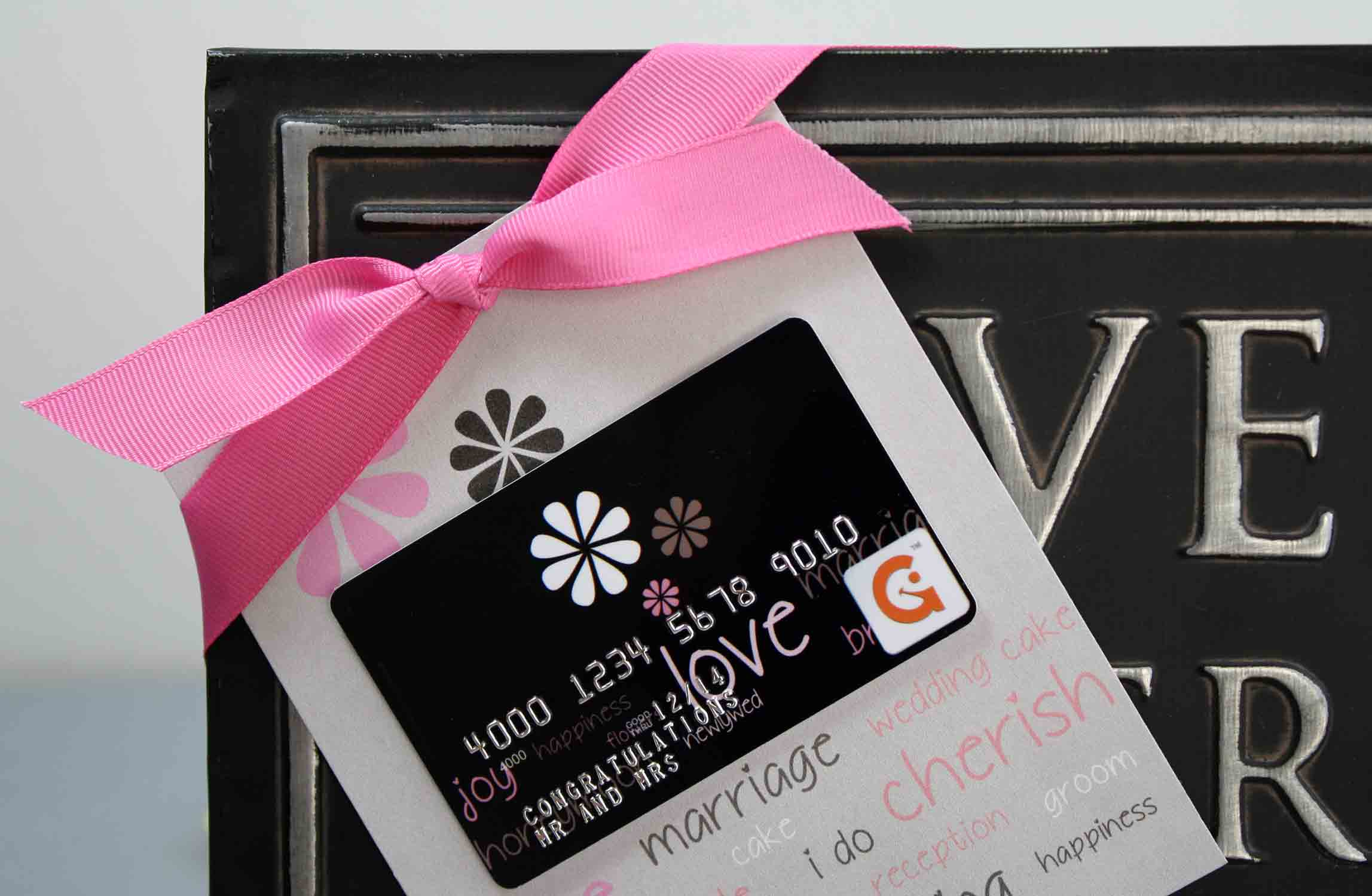 free flat wedding gift card holder