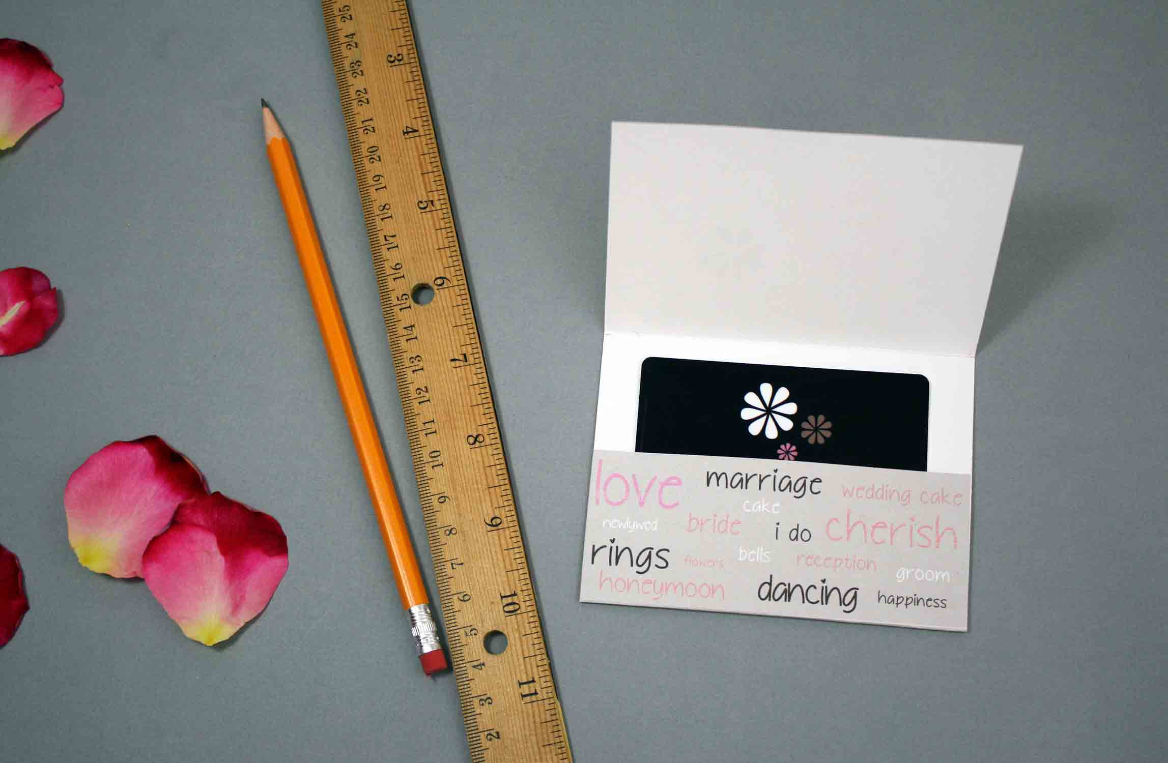 fold gift card holder for wedding