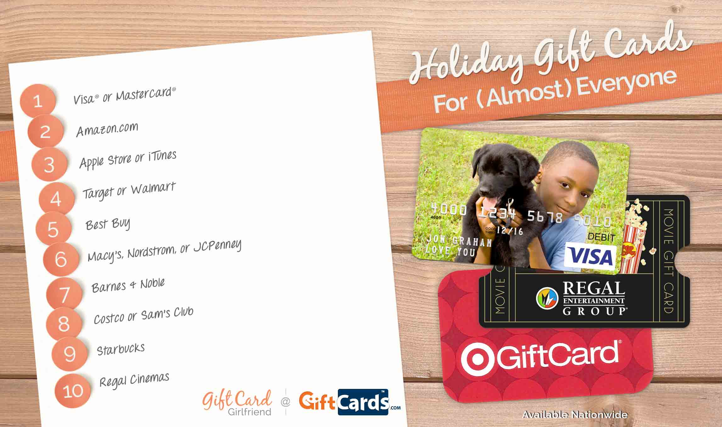 top gift cards