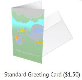 matching diaper fund greeting card