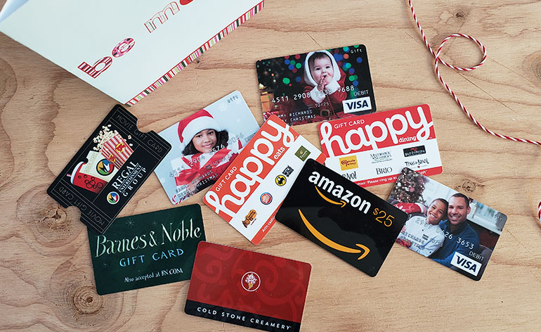 top holiday gift cards for families