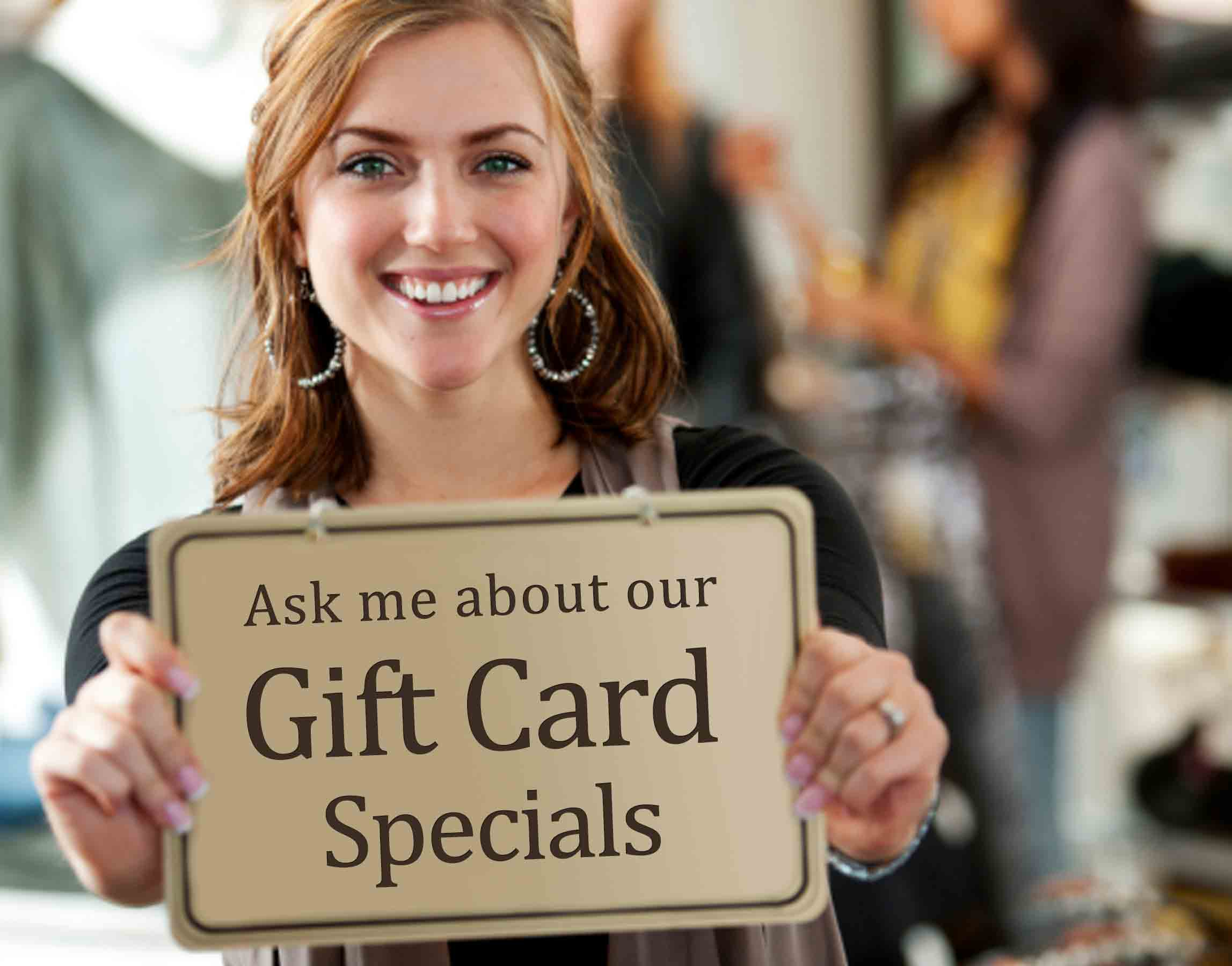 advertise gift card specials