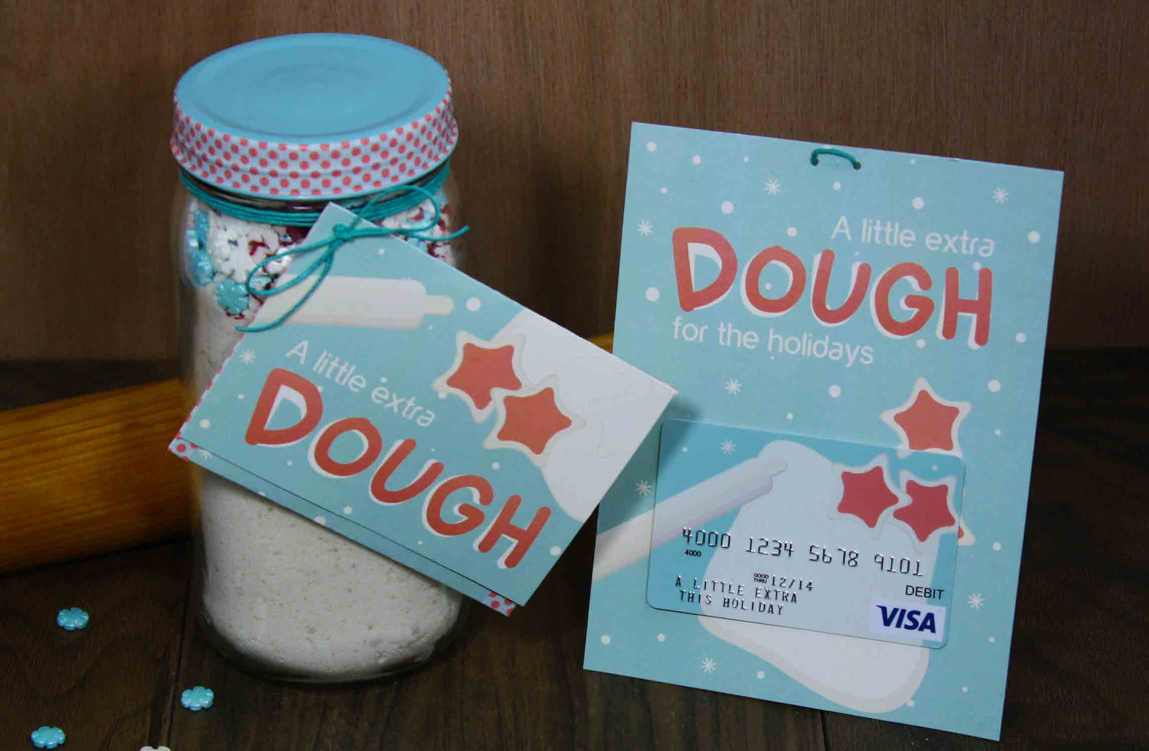 extra dough gift card holder