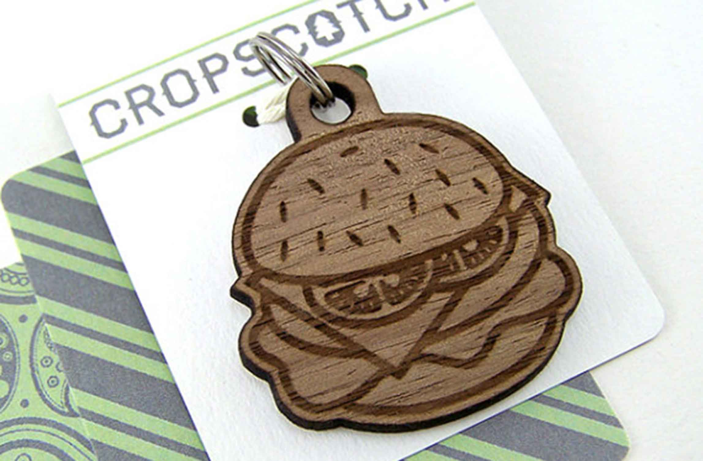 Burger Dog Tag