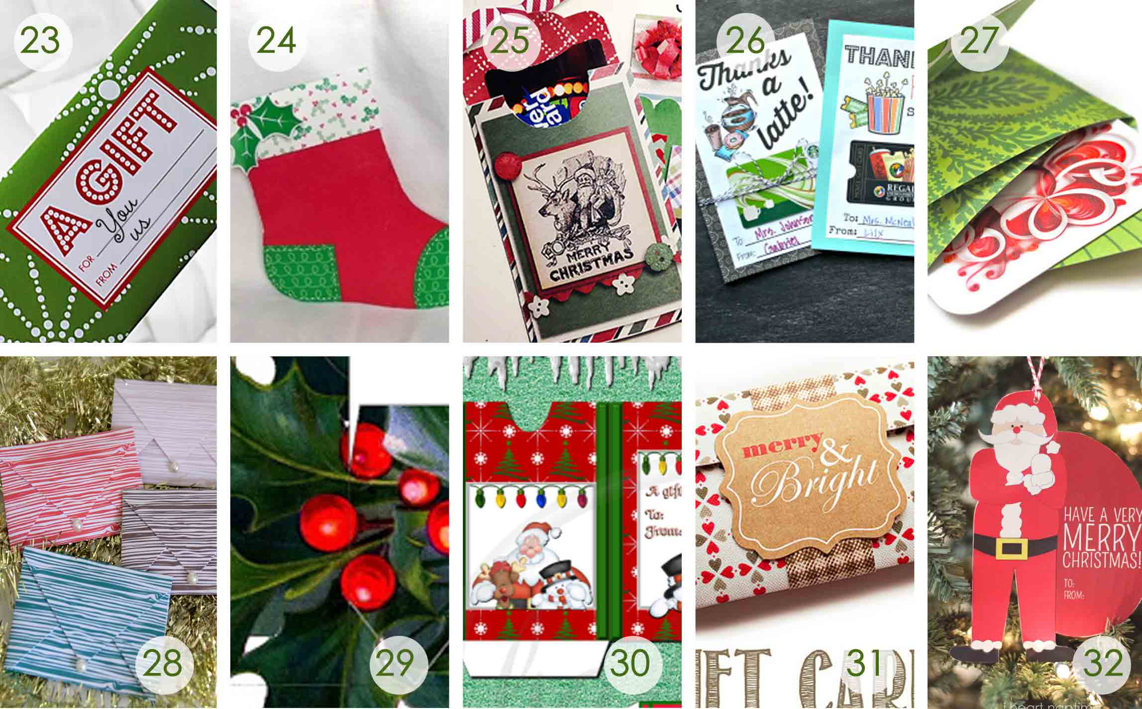 over printable gift card holders for the holidays gcg gift card holders next 10