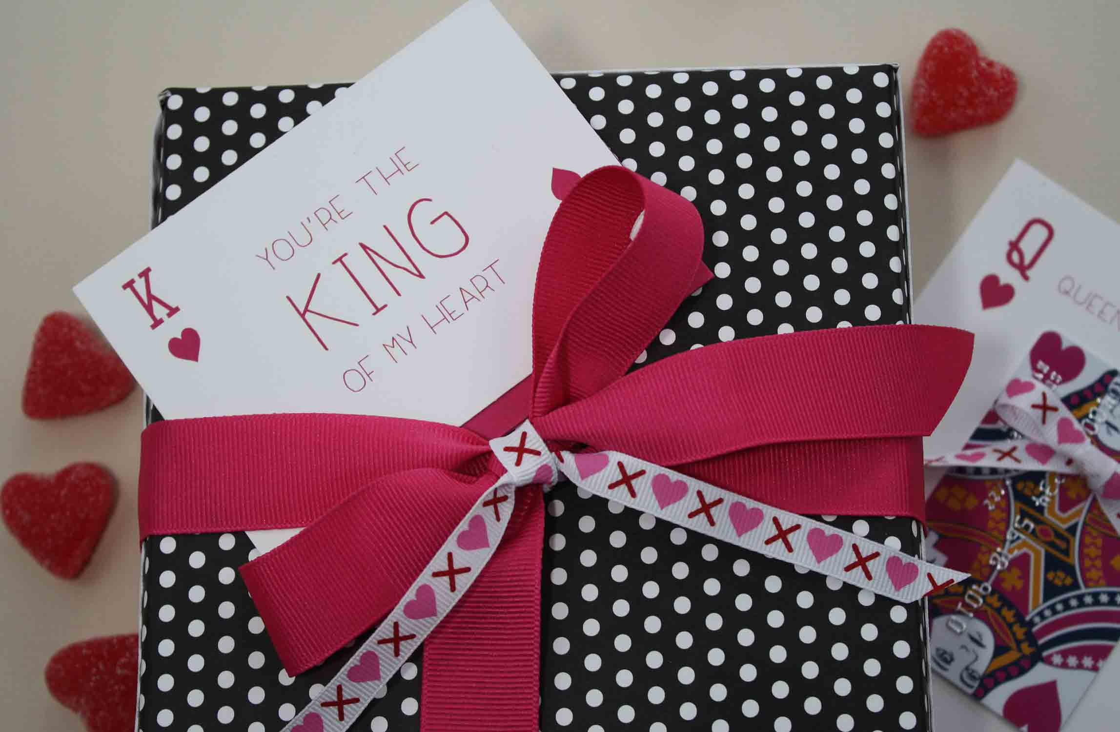 Free Printable Youre the King of My Heart and Queen – Valentine Playing Cards