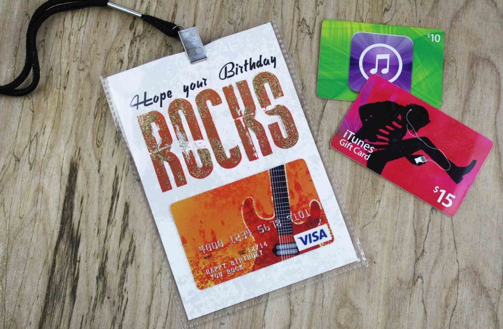 Hope Your Birthday Rocks Free Music Themed Gift Card Holder