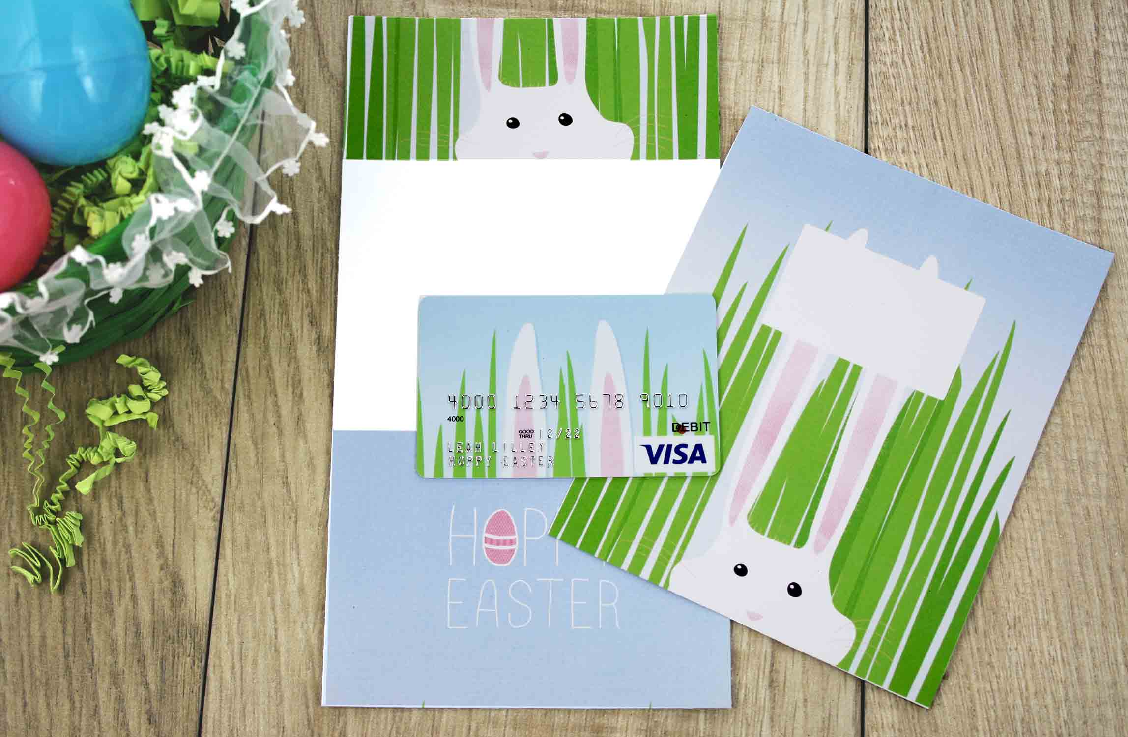 Free printable hoppy easter gift card holder gcg supplies to make gift card holder negle Gallery