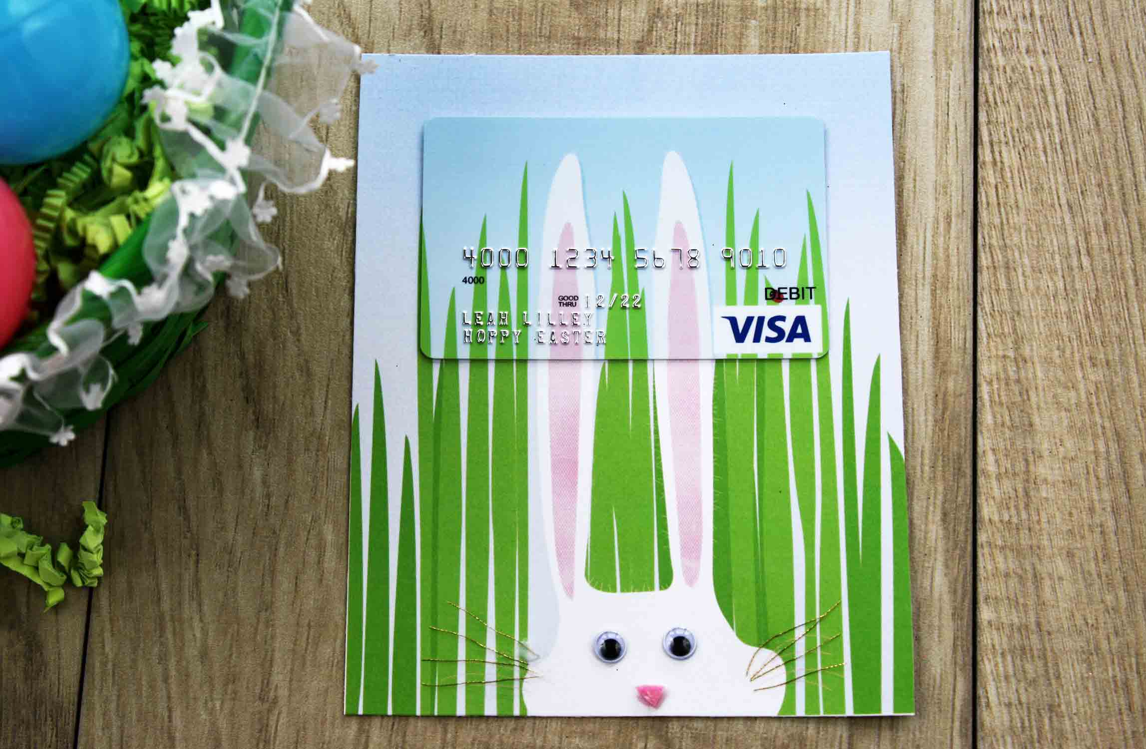 easter bunny egg gift card