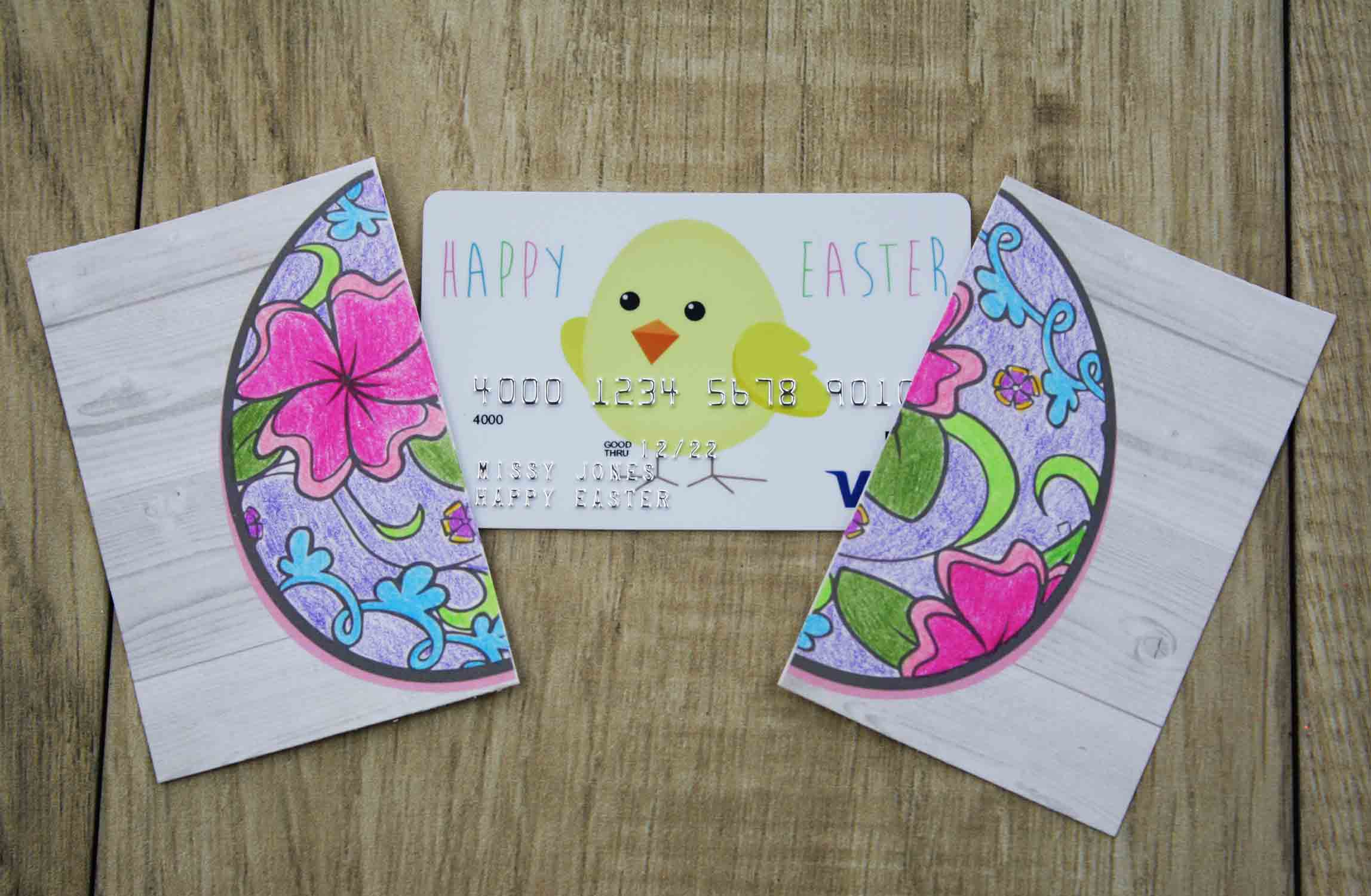 Free printable easter gift card holder to color gcg crack egg colored negle Choice Image