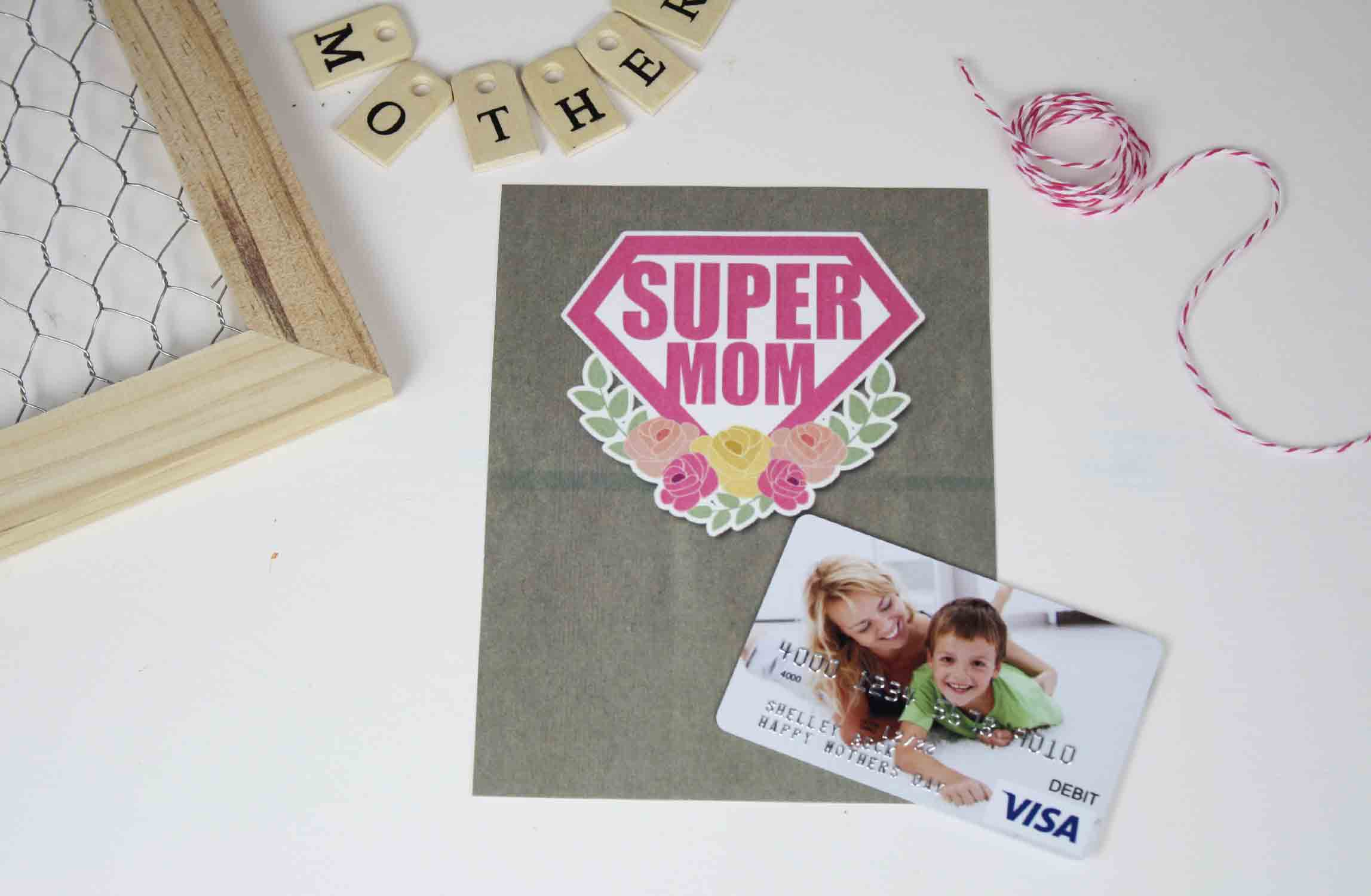 super mom gift card holder