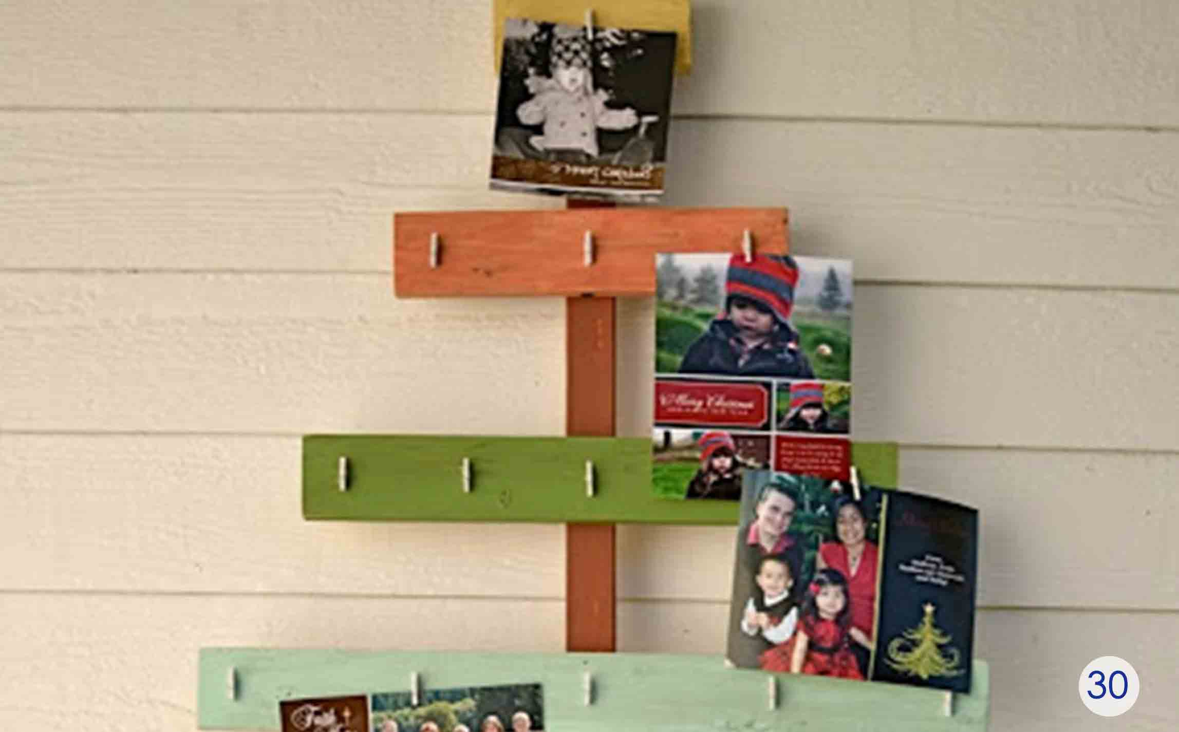 rustic gift card slat tree