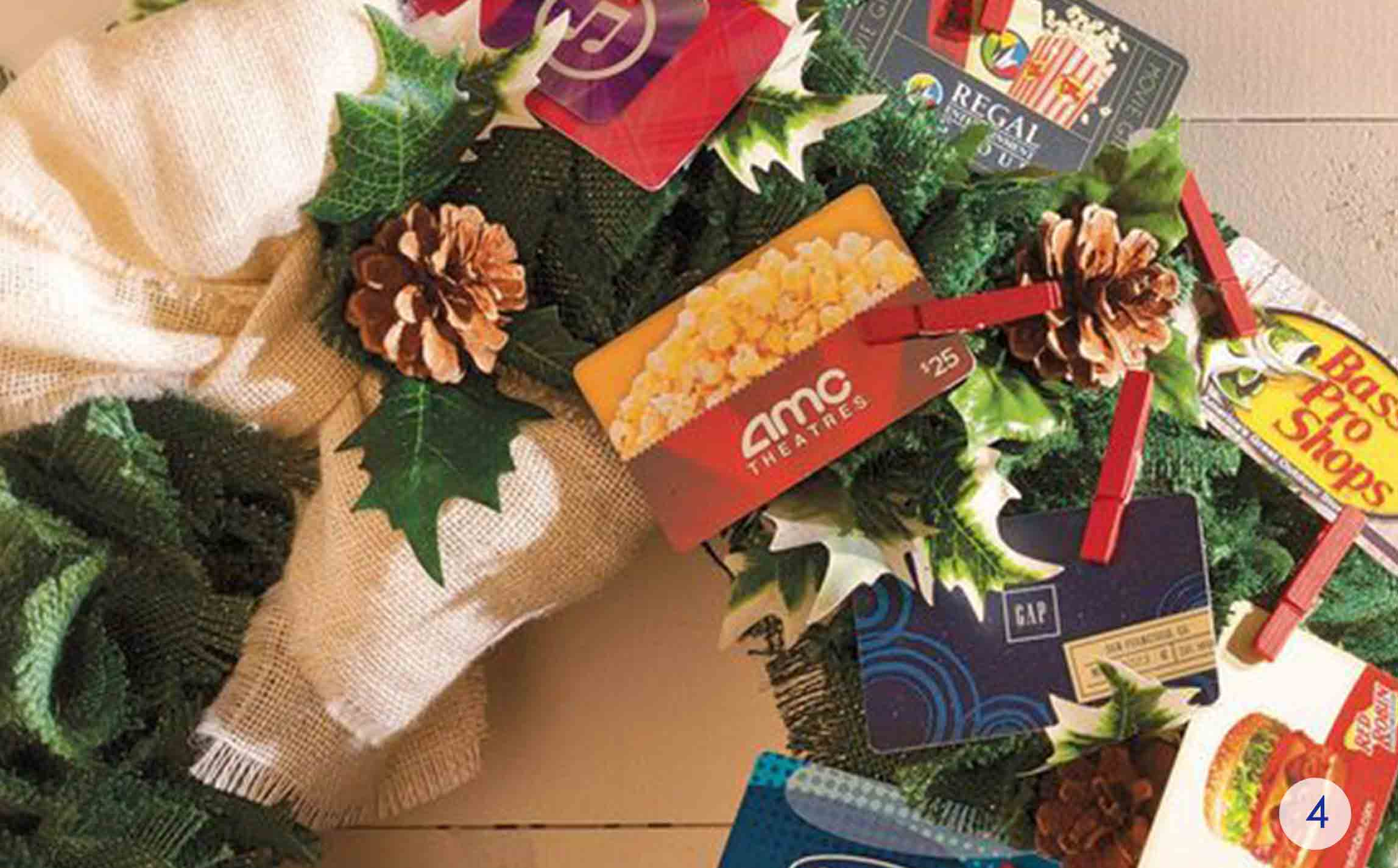 The best gift card tree and gift card wreaths ever gcg burlap wreath negle Choice Image