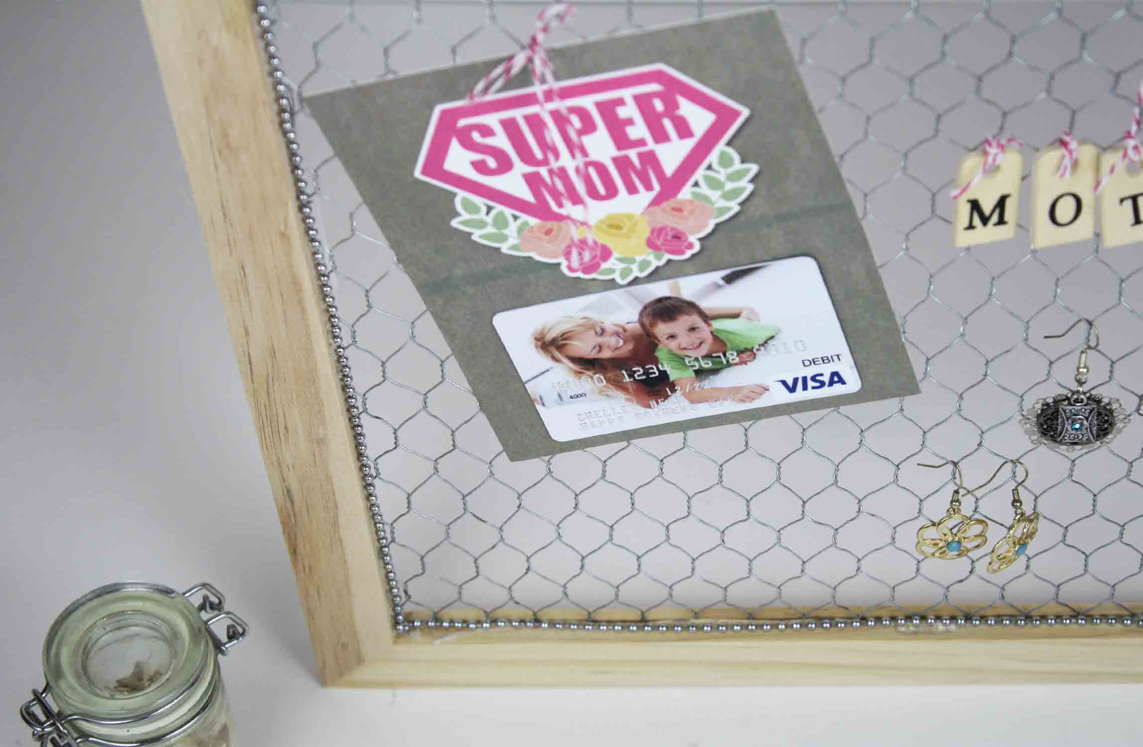 hanging gift card holder
