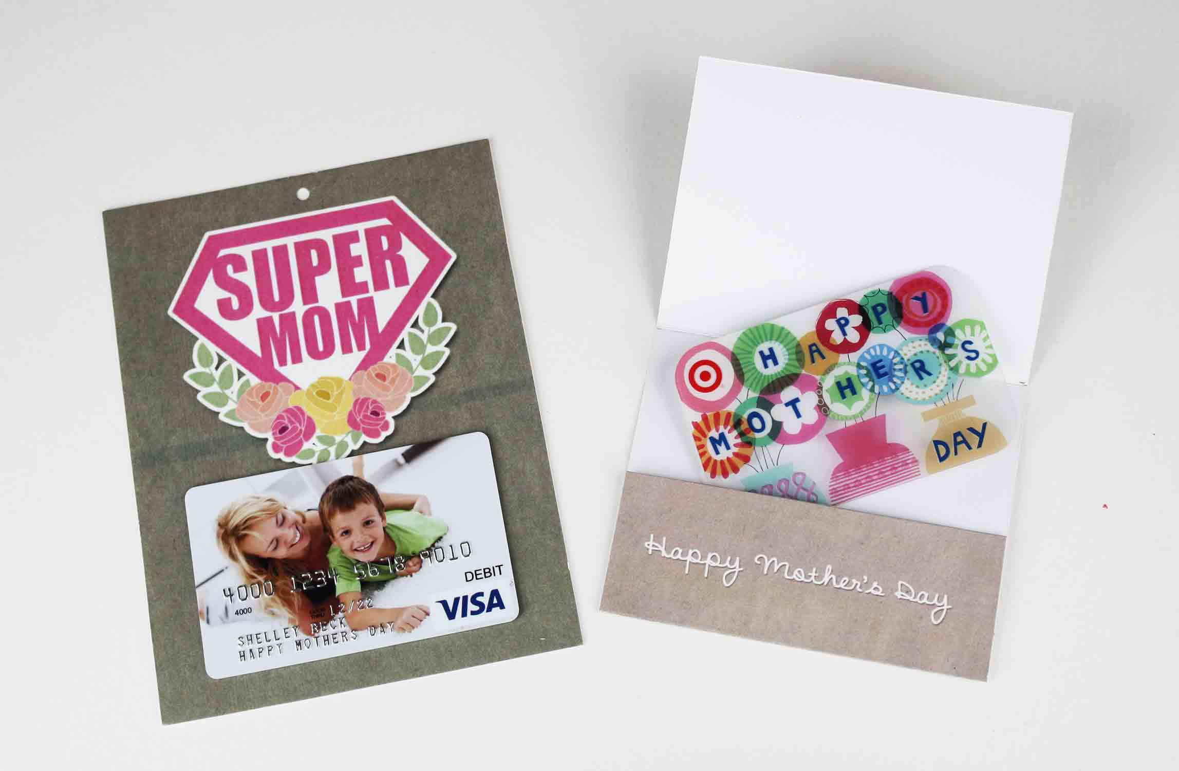 put gift card inside holder
