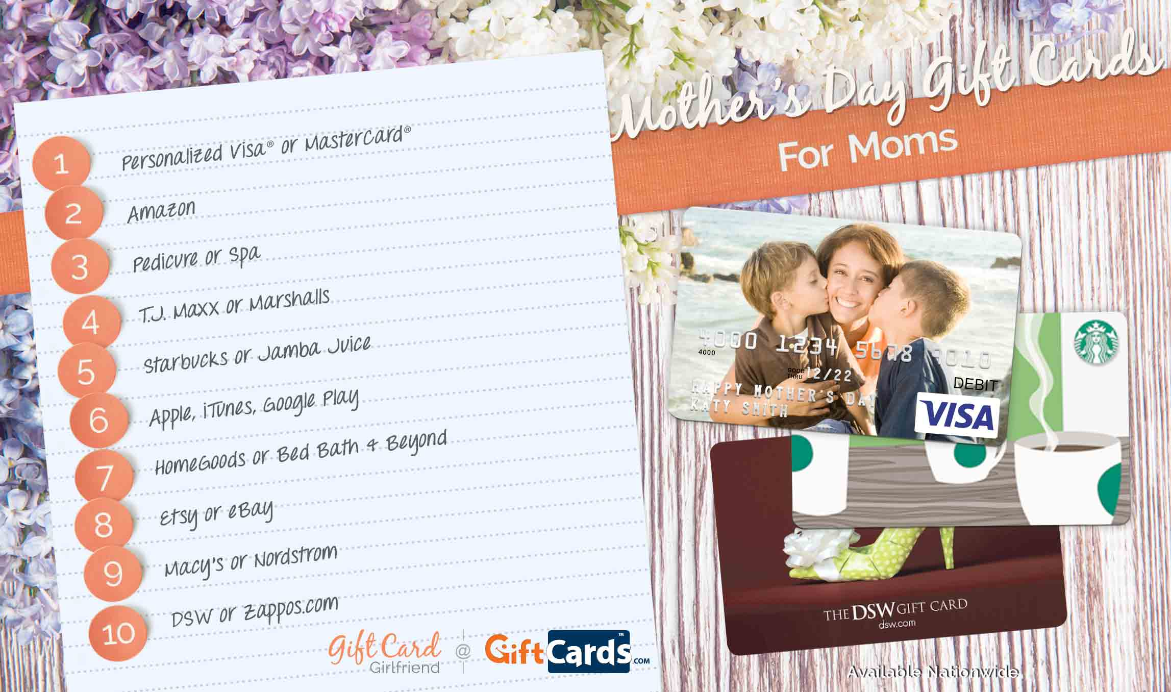 best mother's day gift cards for mom