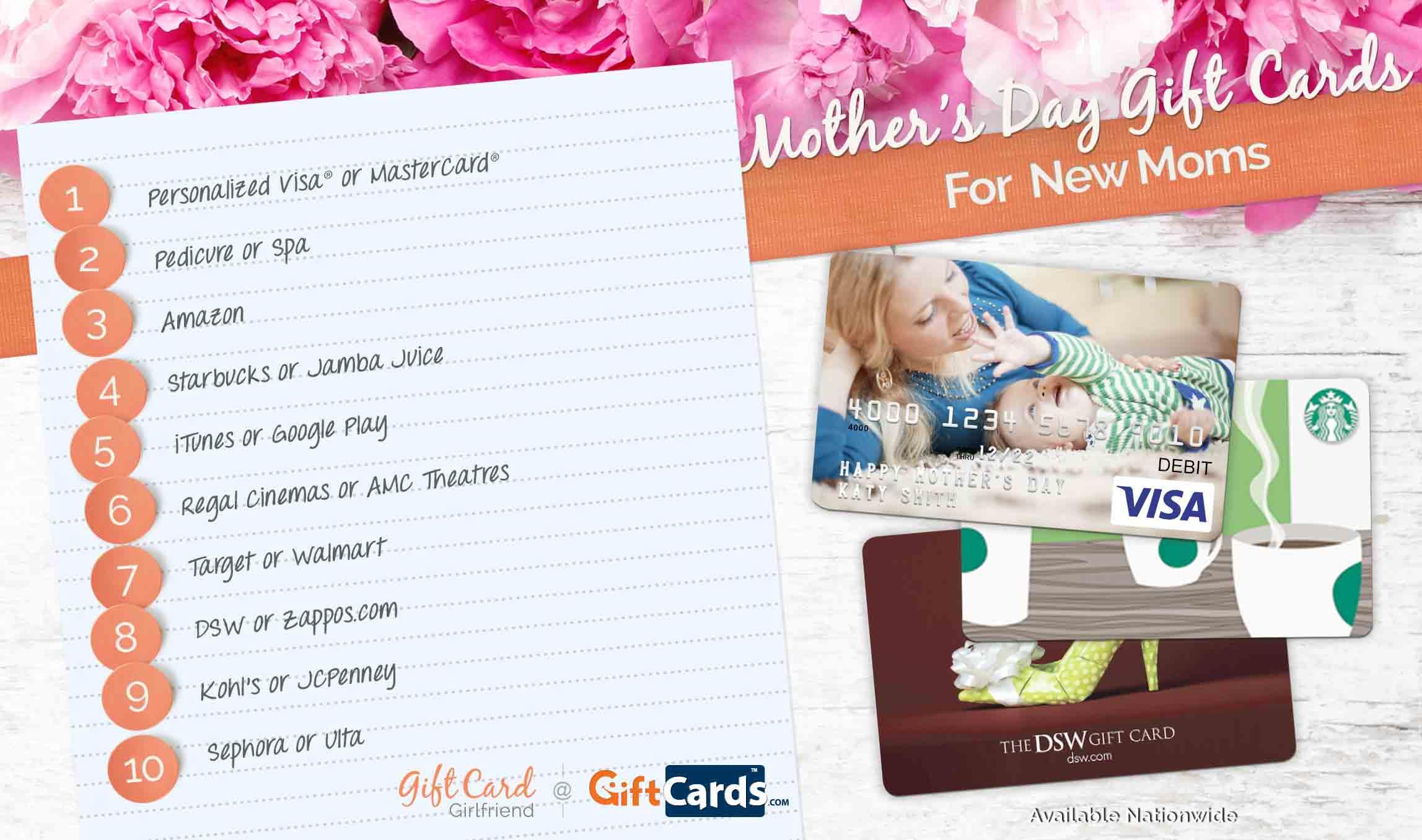 82f5ee01c3d6a Top 10 Mother's Day Gift Cards for New Moms | GCG