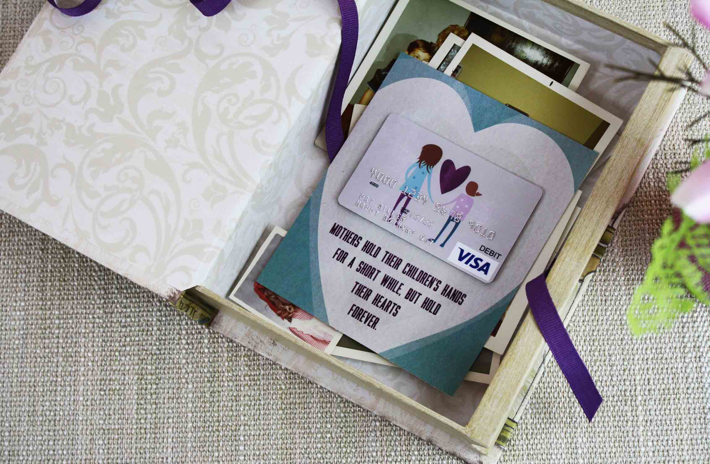 flat gift card holder in memory box