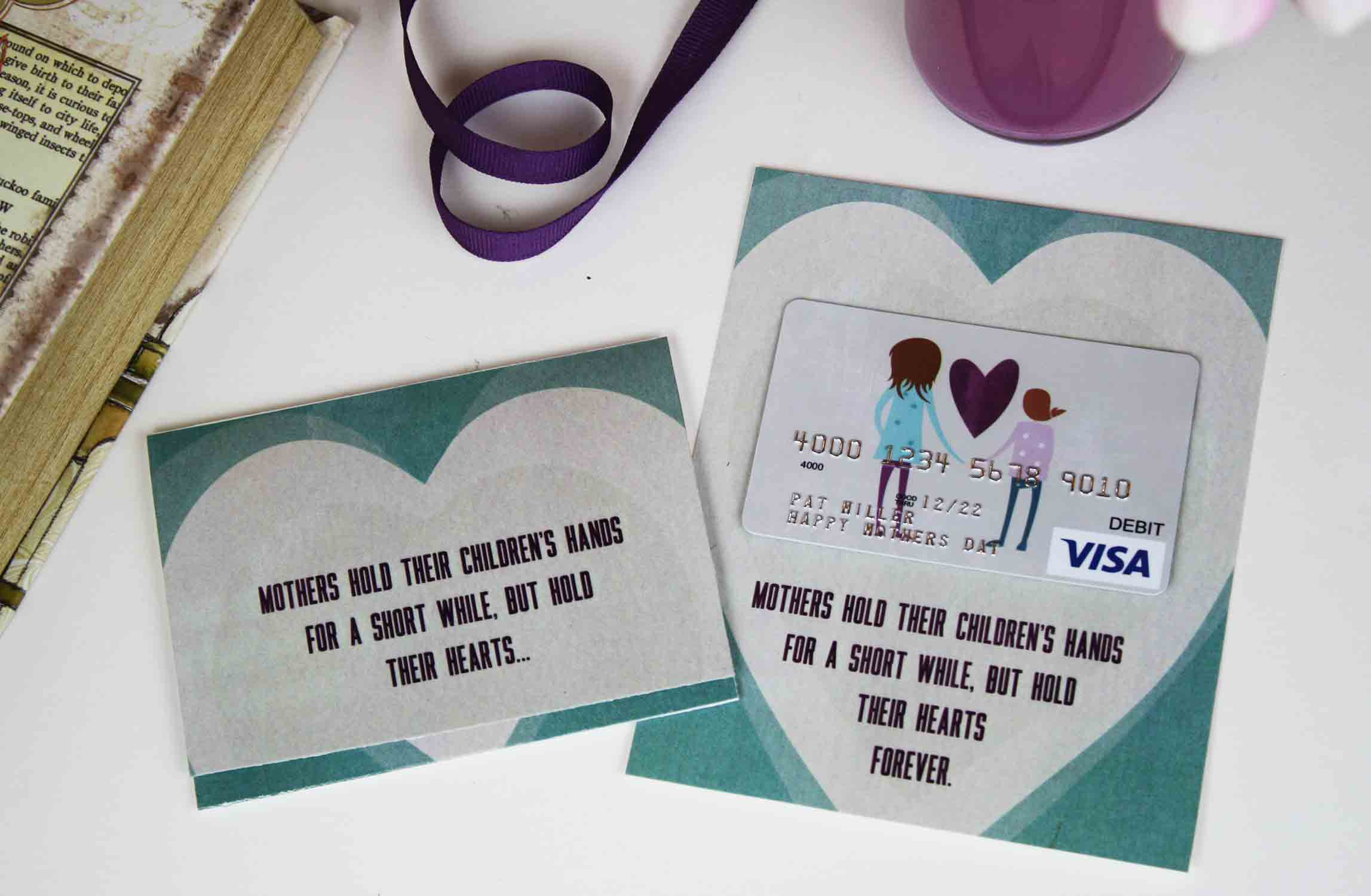 mother's hand gift card holders