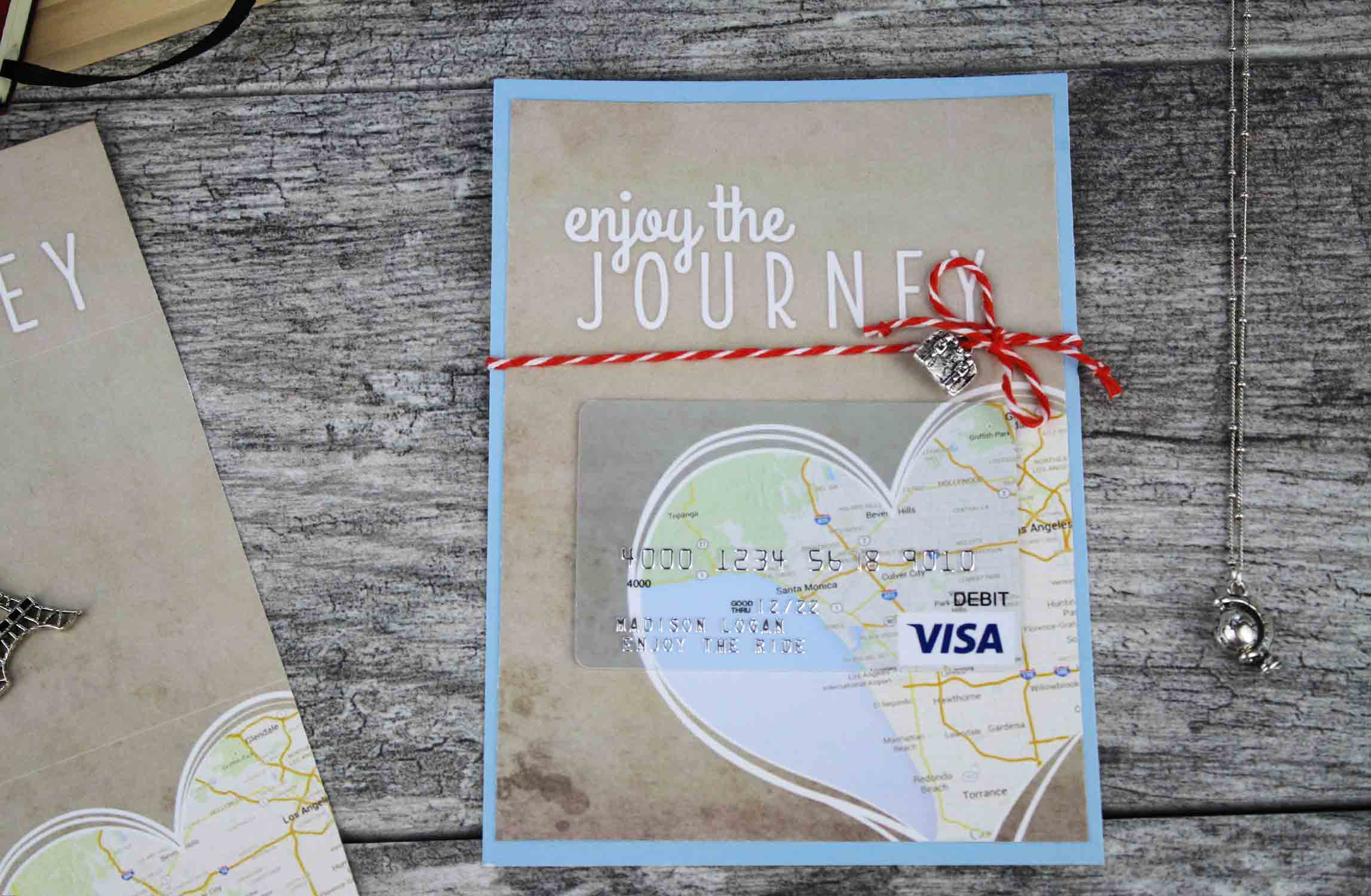 flat gift card holder with visa