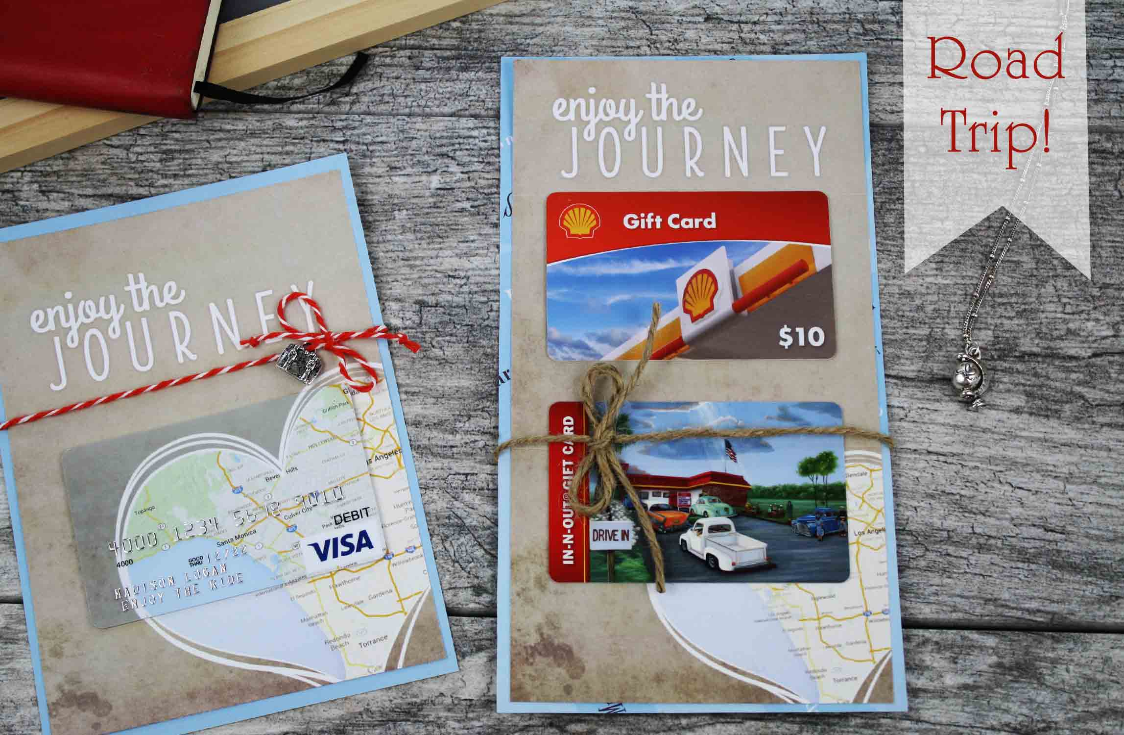 road trip gift card holder