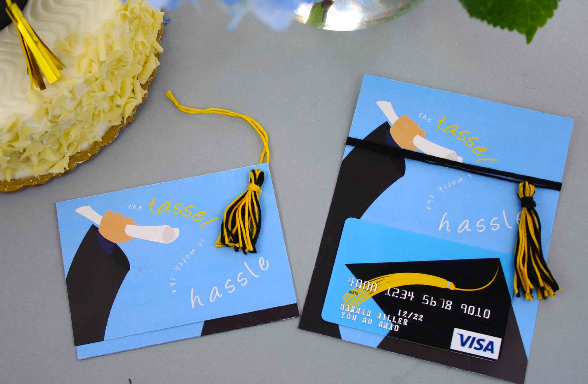 tassel graduation gift card holder