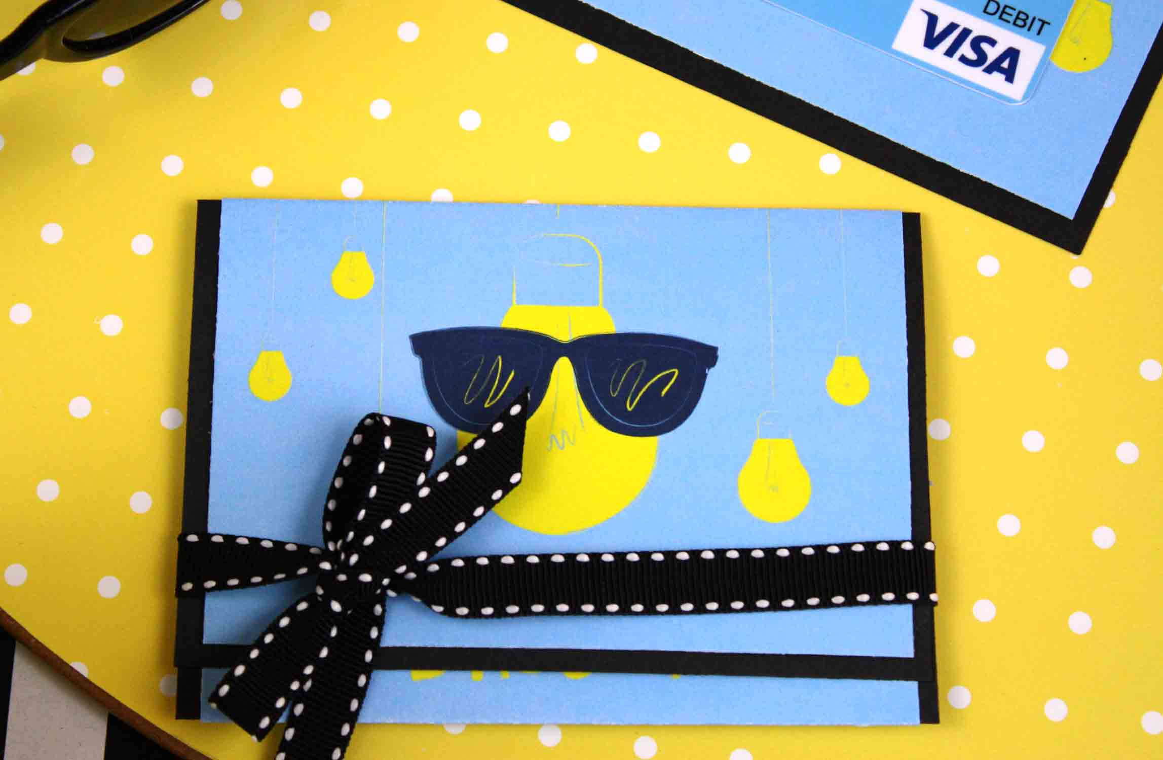 free printable gift card holder folded