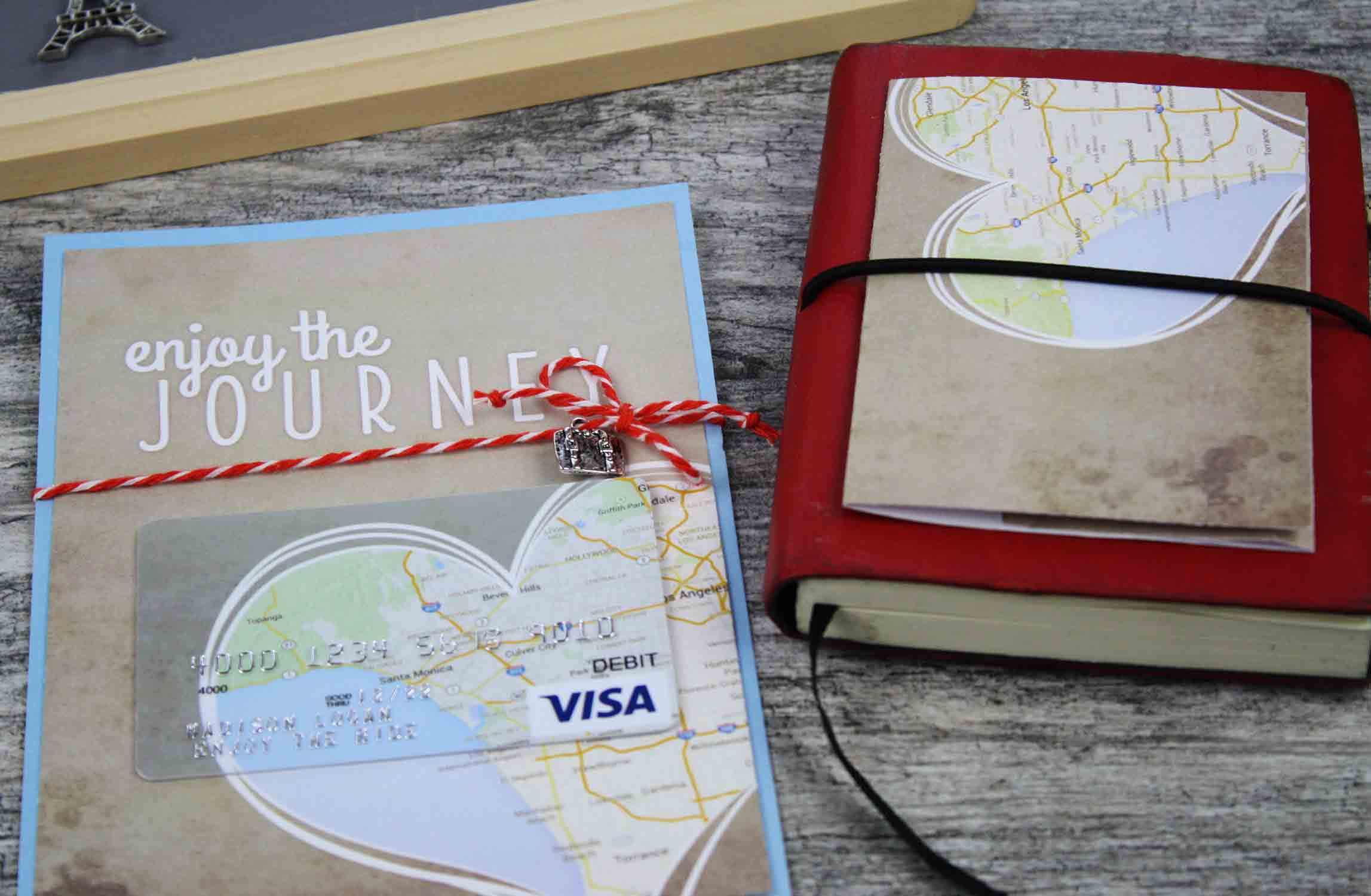 gift card holder with notebook