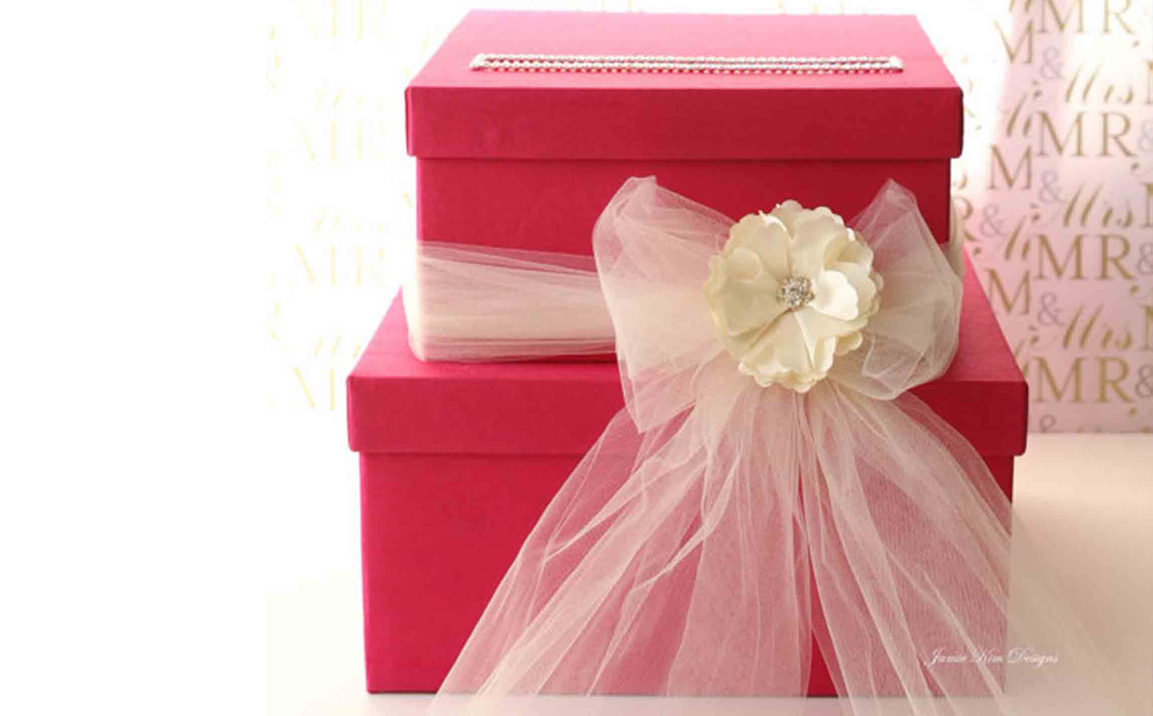 Wedding gift card box by Jamie Kim Designs