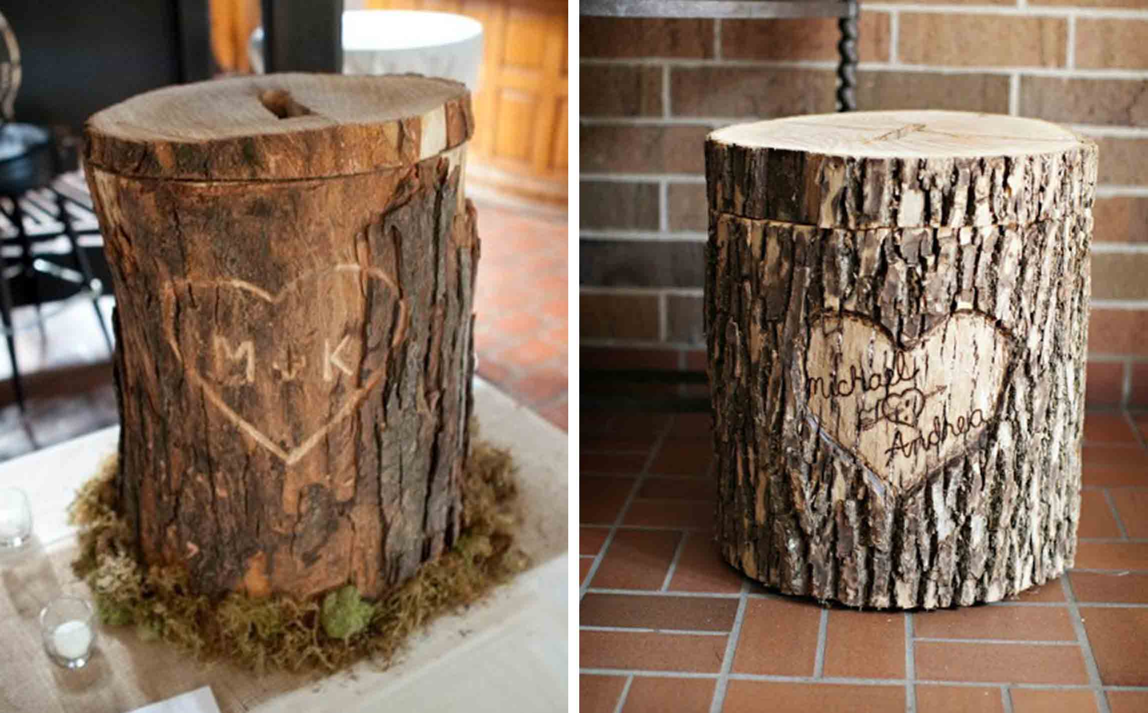 Tree Trunk Gift Card Holder