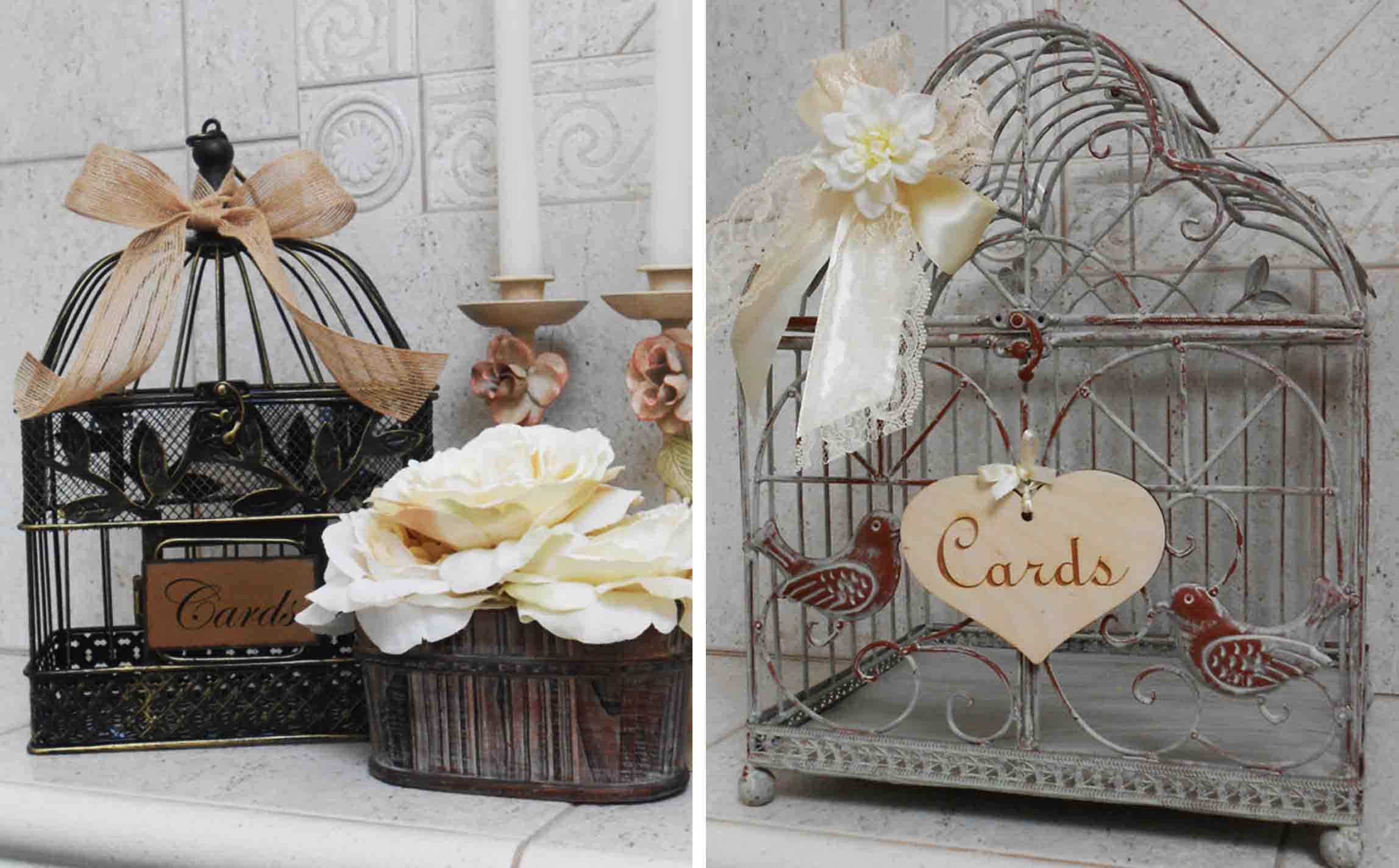 Lace Moon gift card birdcages
