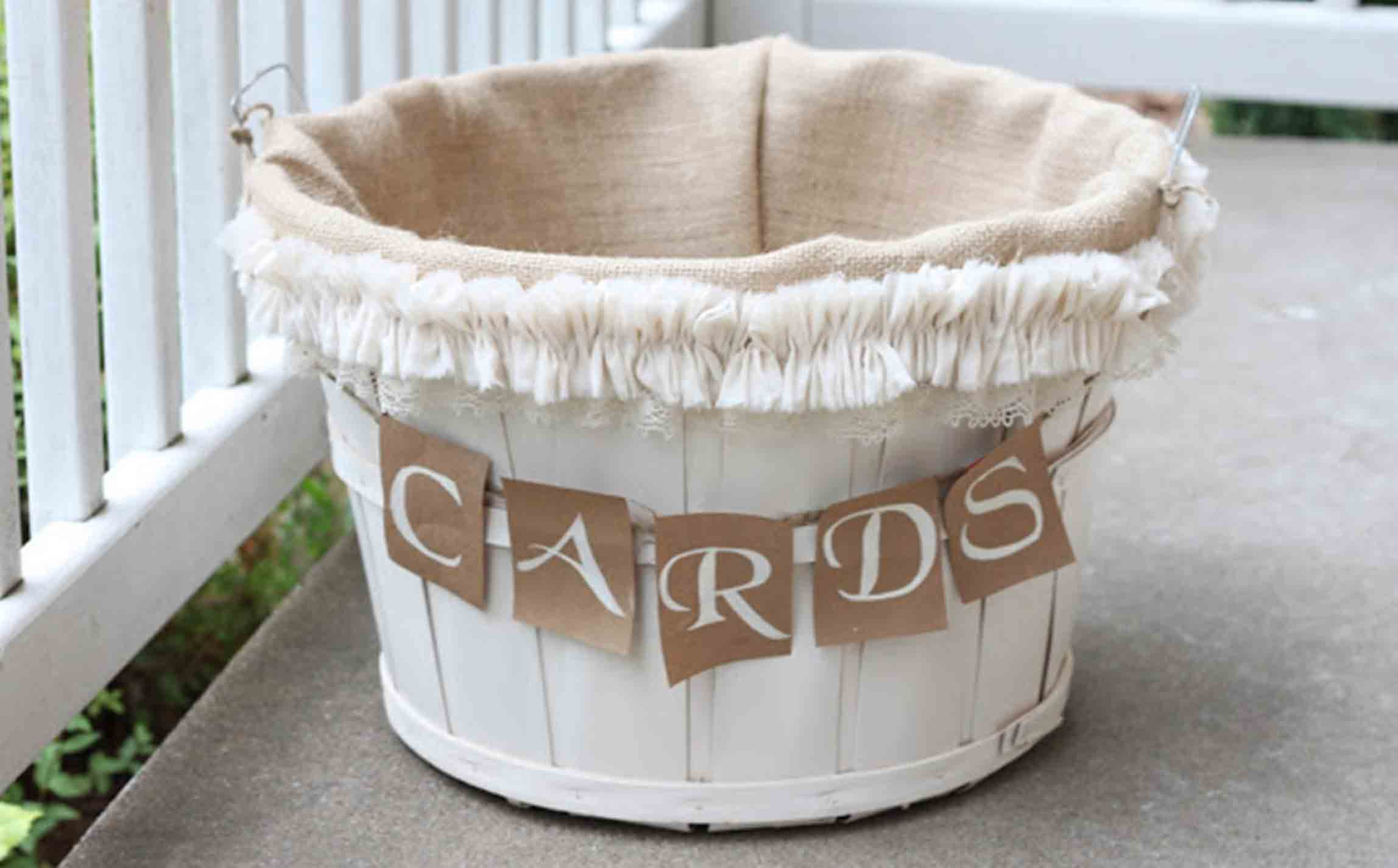 gift card basket made of apple barrel