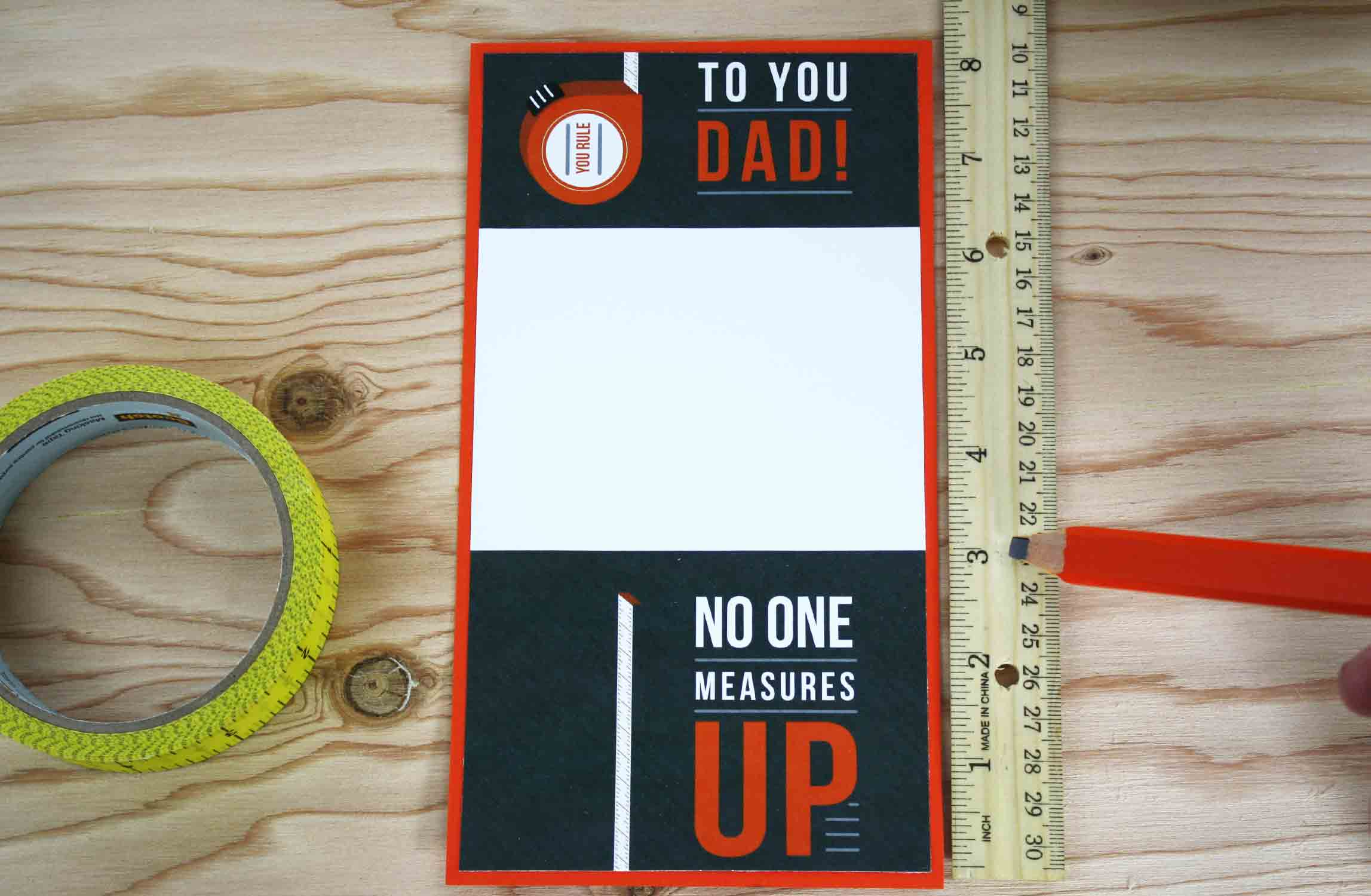measure gift card before folding