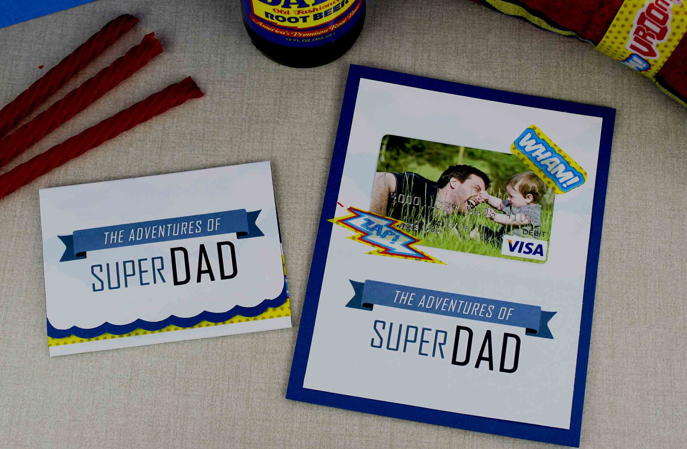 crafted father's day gift card holders