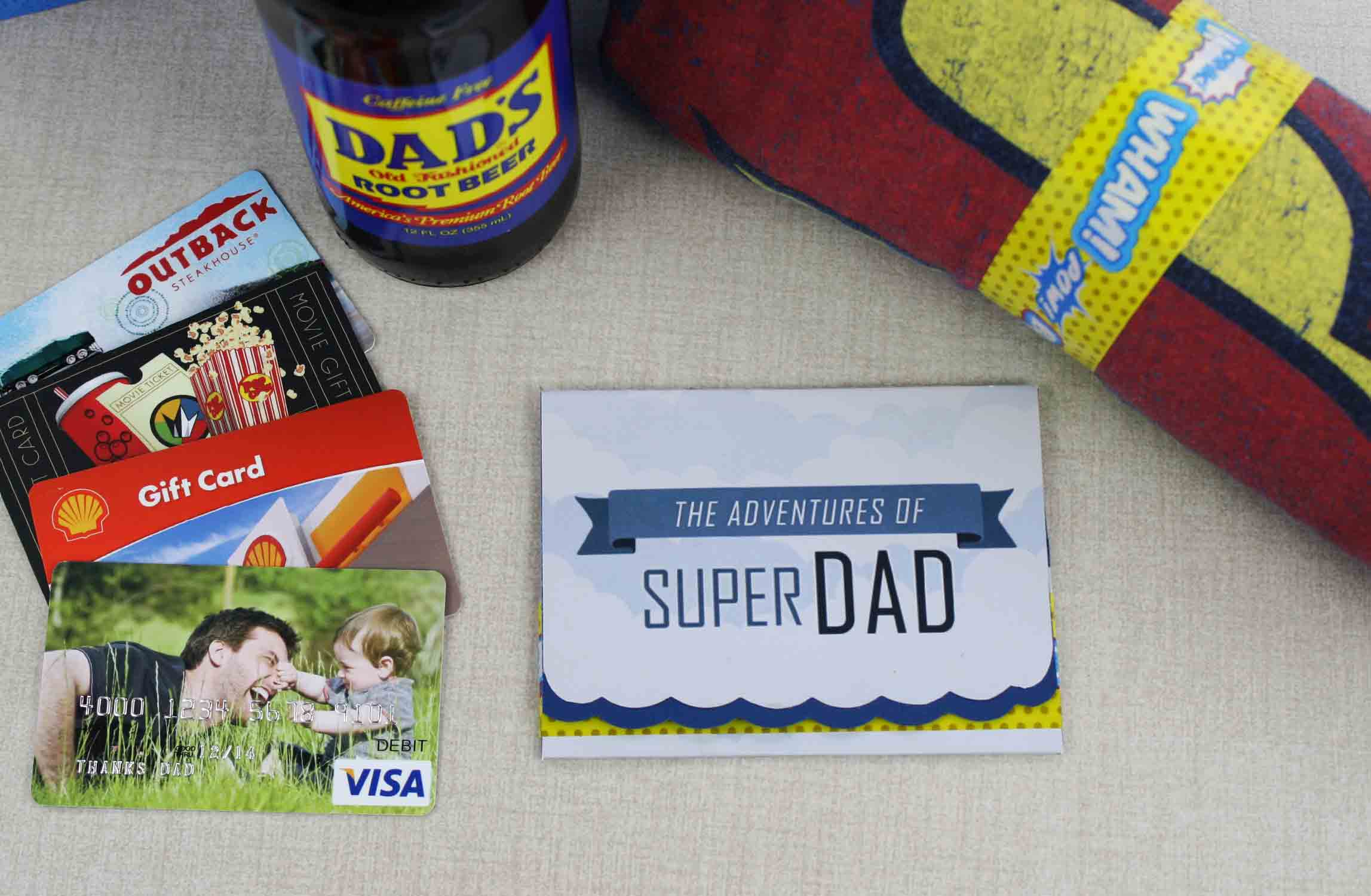 folded Father's Day gift card holder
