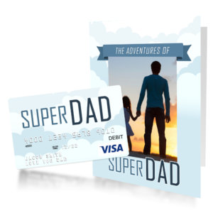 Father's Day gift card for Super Dad