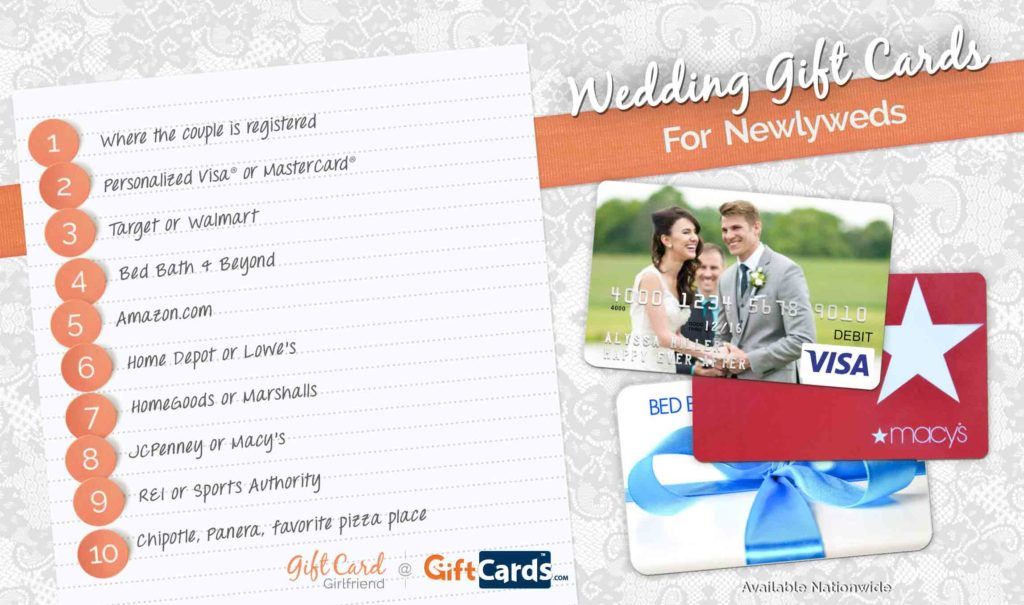 Jcpenney Wedding Gifts: Top 10 Wedding Gift Cards To Buy For Newlyweds