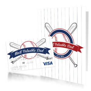 Most Valuable Dad predesigned card