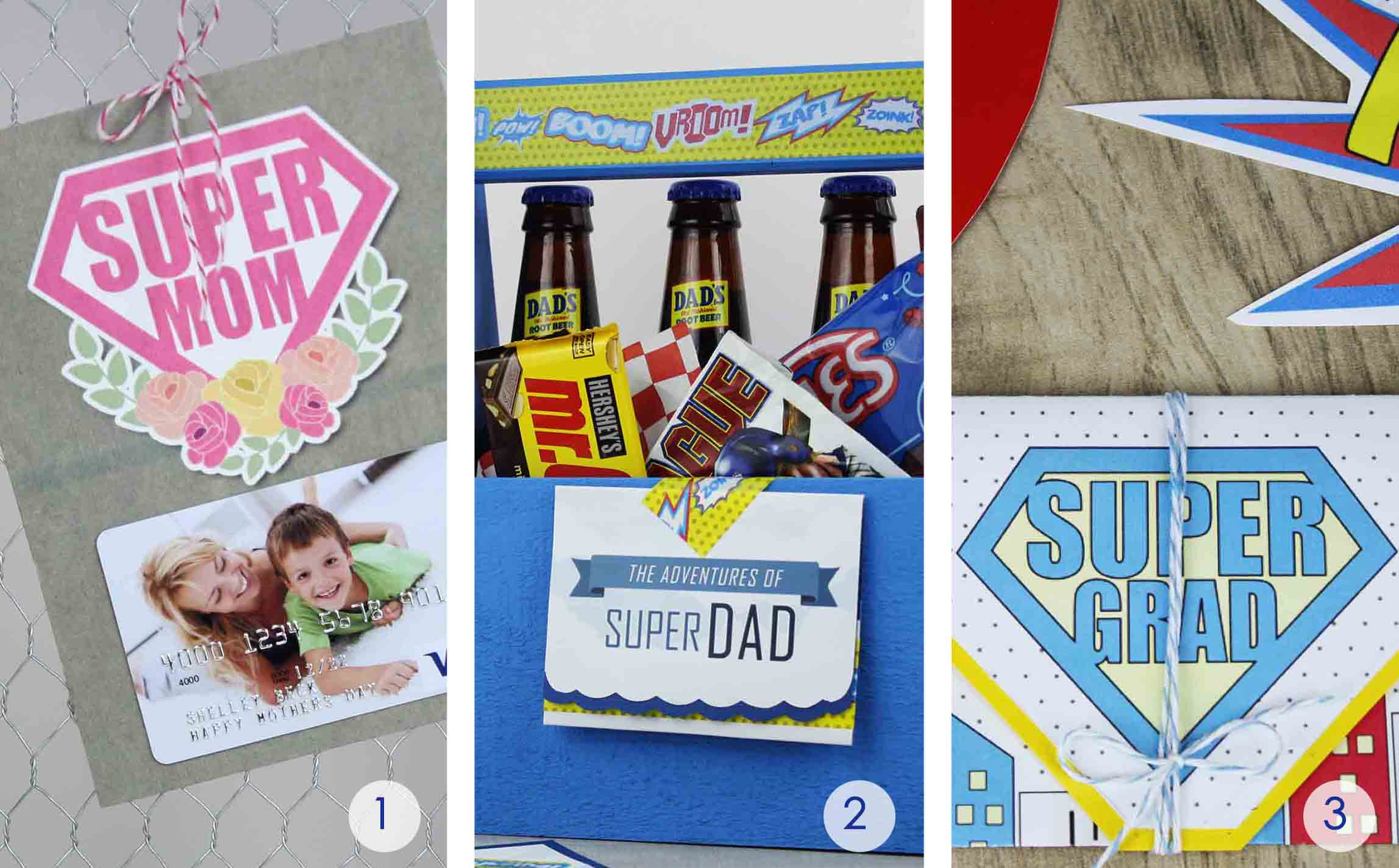 Free printables for super mom, dad, and grad