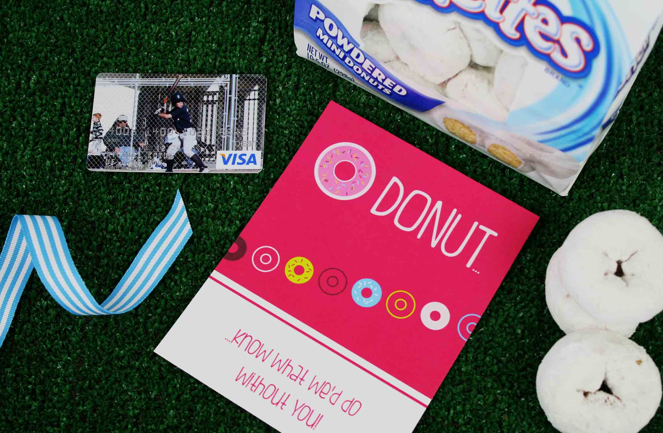 DONUT gift card for coach